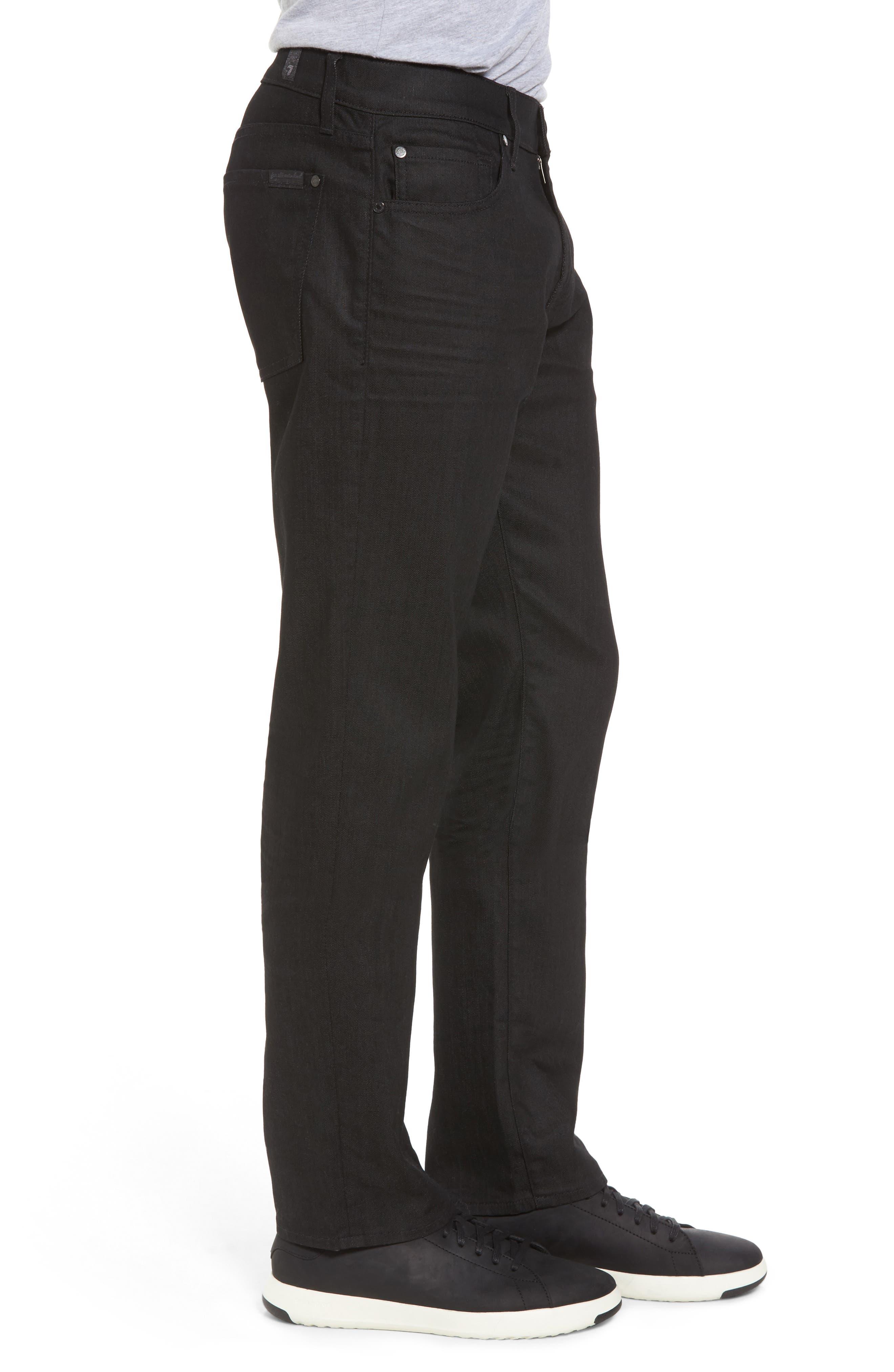 Alternate Image 3  - 7 For All Mankind® Airweft - Slimmy Slim Fit Jeans (Soiree Black)