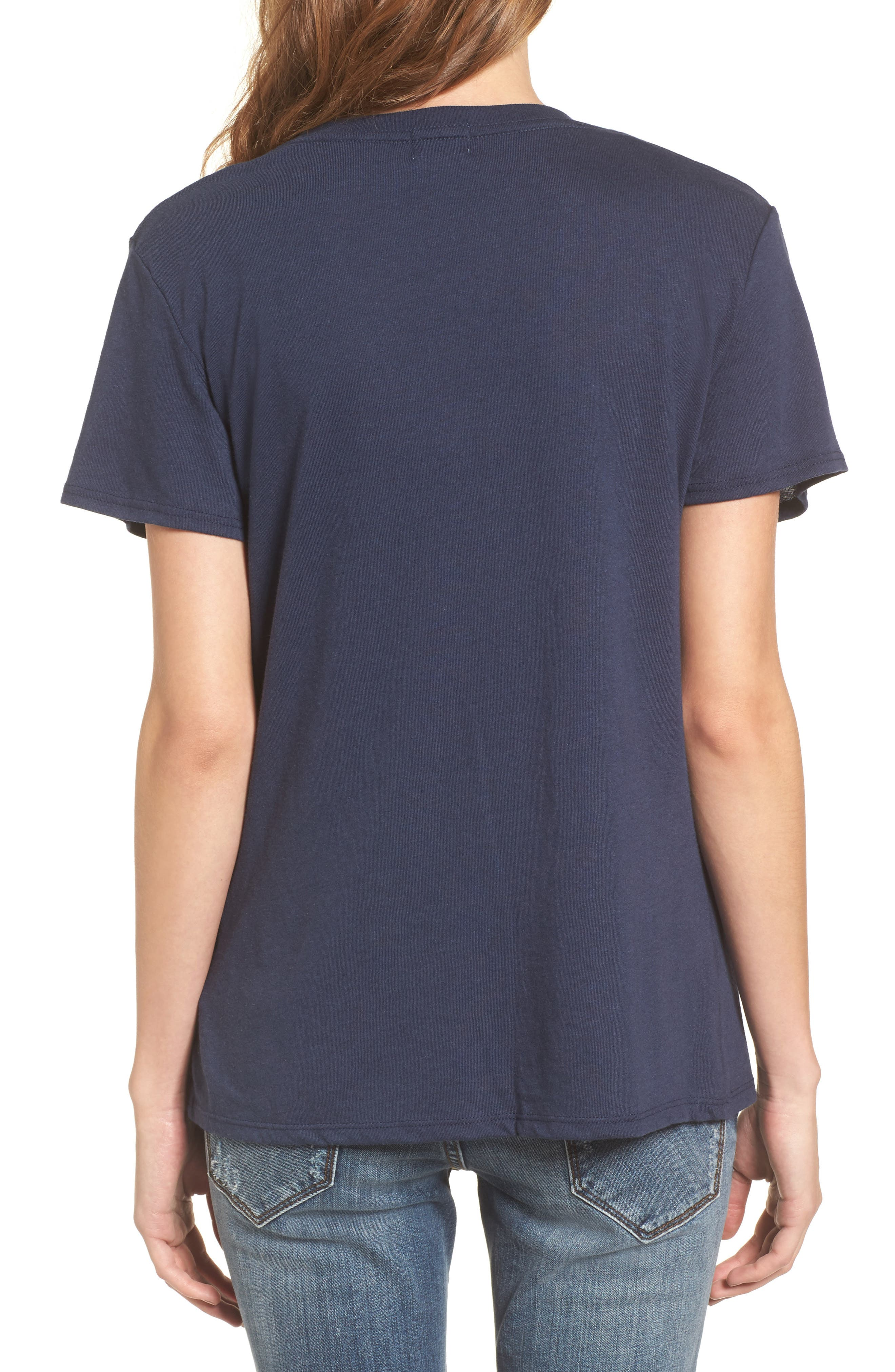 Pardon My French Fries Graphic Tee,                             Alternate thumbnail 2, color,                             Navy