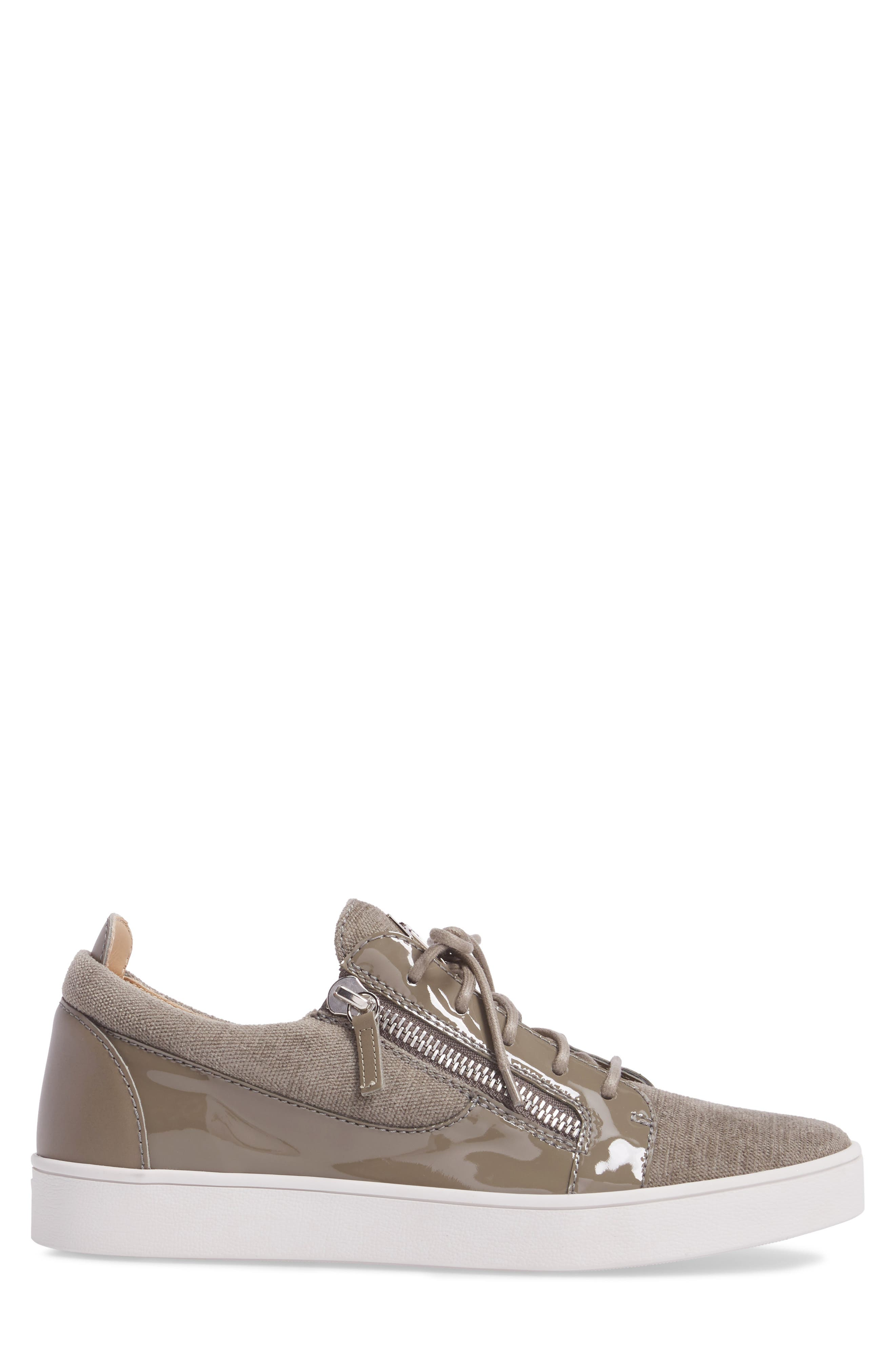 Low-Top Sneaker,                             Alternate thumbnail 3, color,                             Pietra