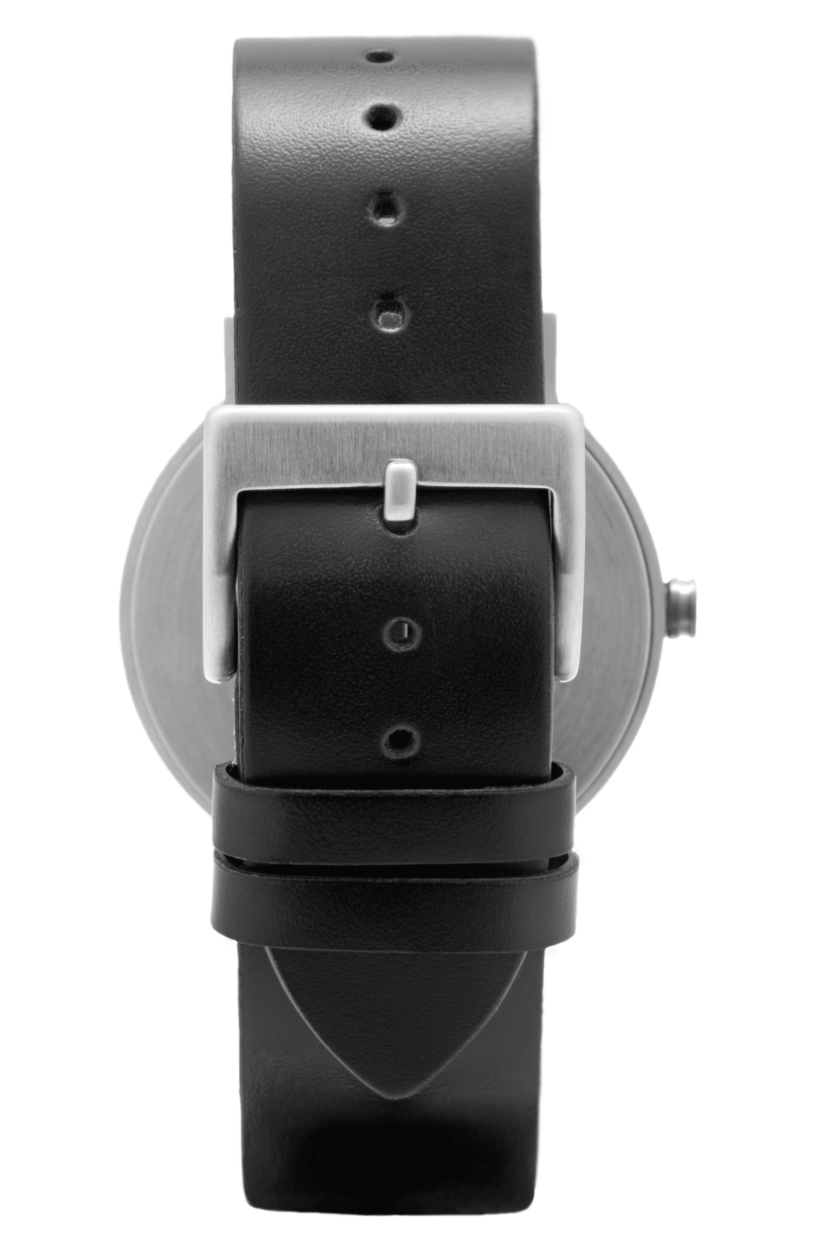 Alternate Image 3  - Leonard & Church Thompson Leather Strap Watch, 40mm