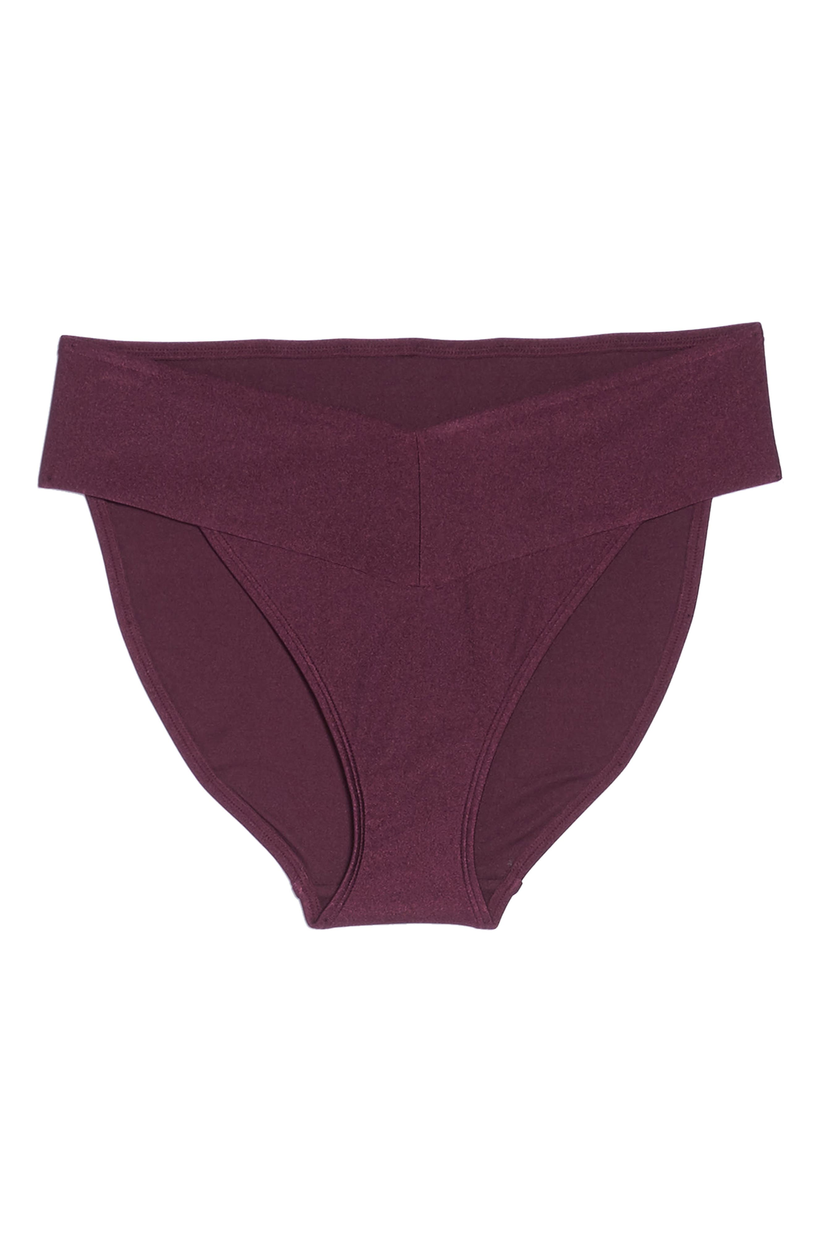 Ted Baker High Waisted Wrap Bikini Bottom,                             Alternate thumbnail 4, color,                             Deep Purple