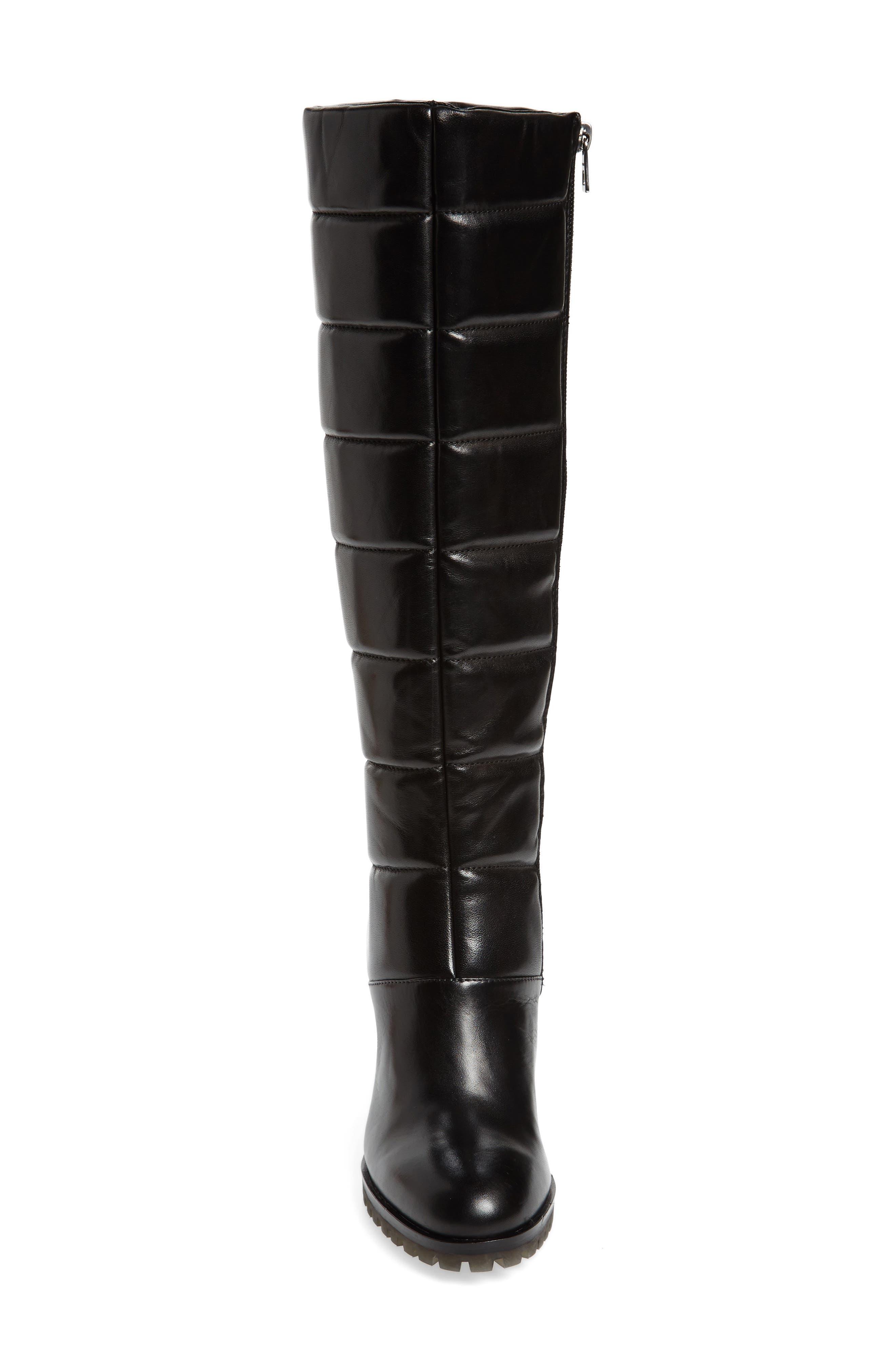 Tropia Knee High Boot,                             Alternate thumbnail 4, color,                             Black Leather