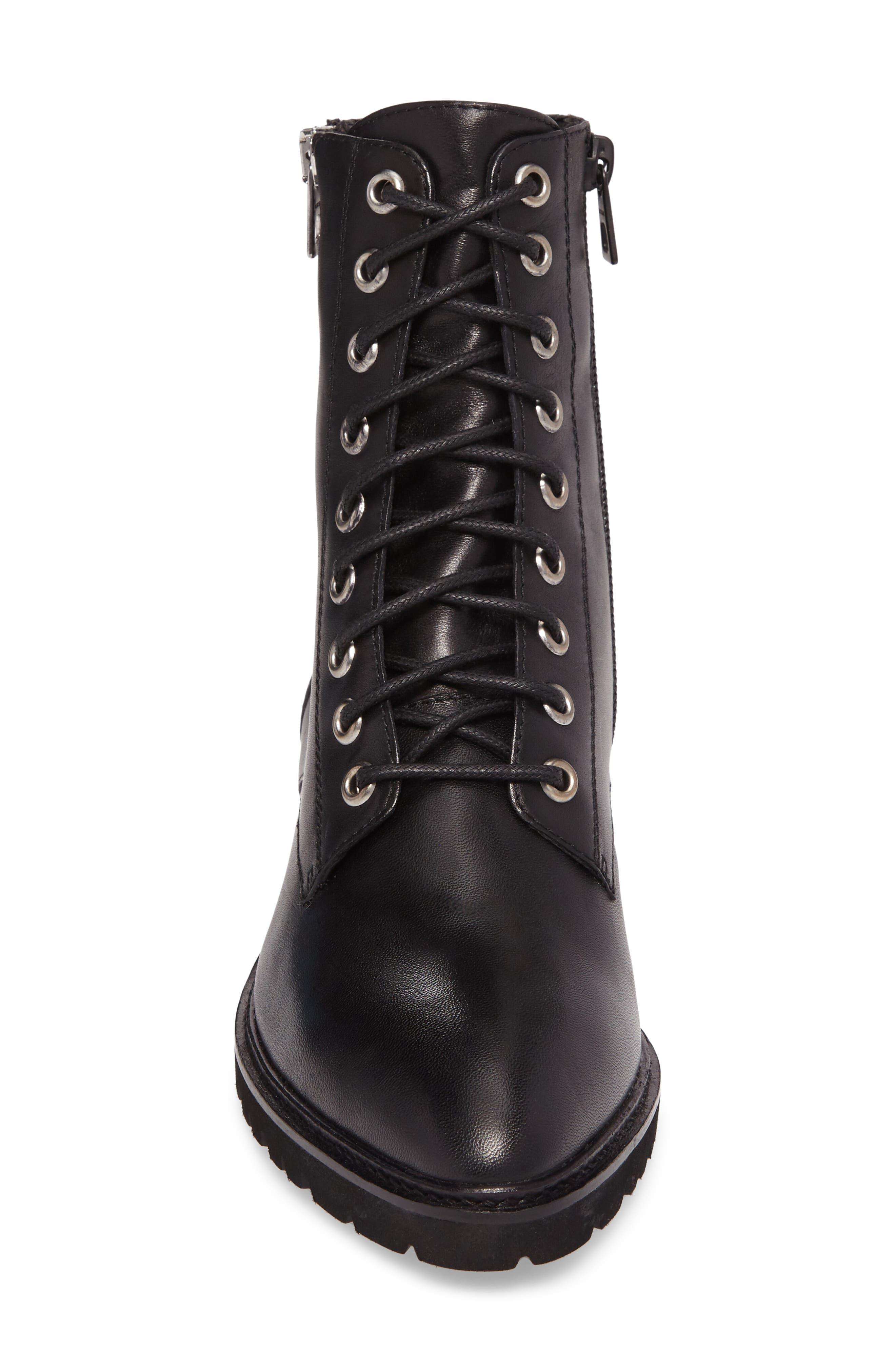 Tempt Boot,                             Alternate thumbnail 4, color,                             Black Leather