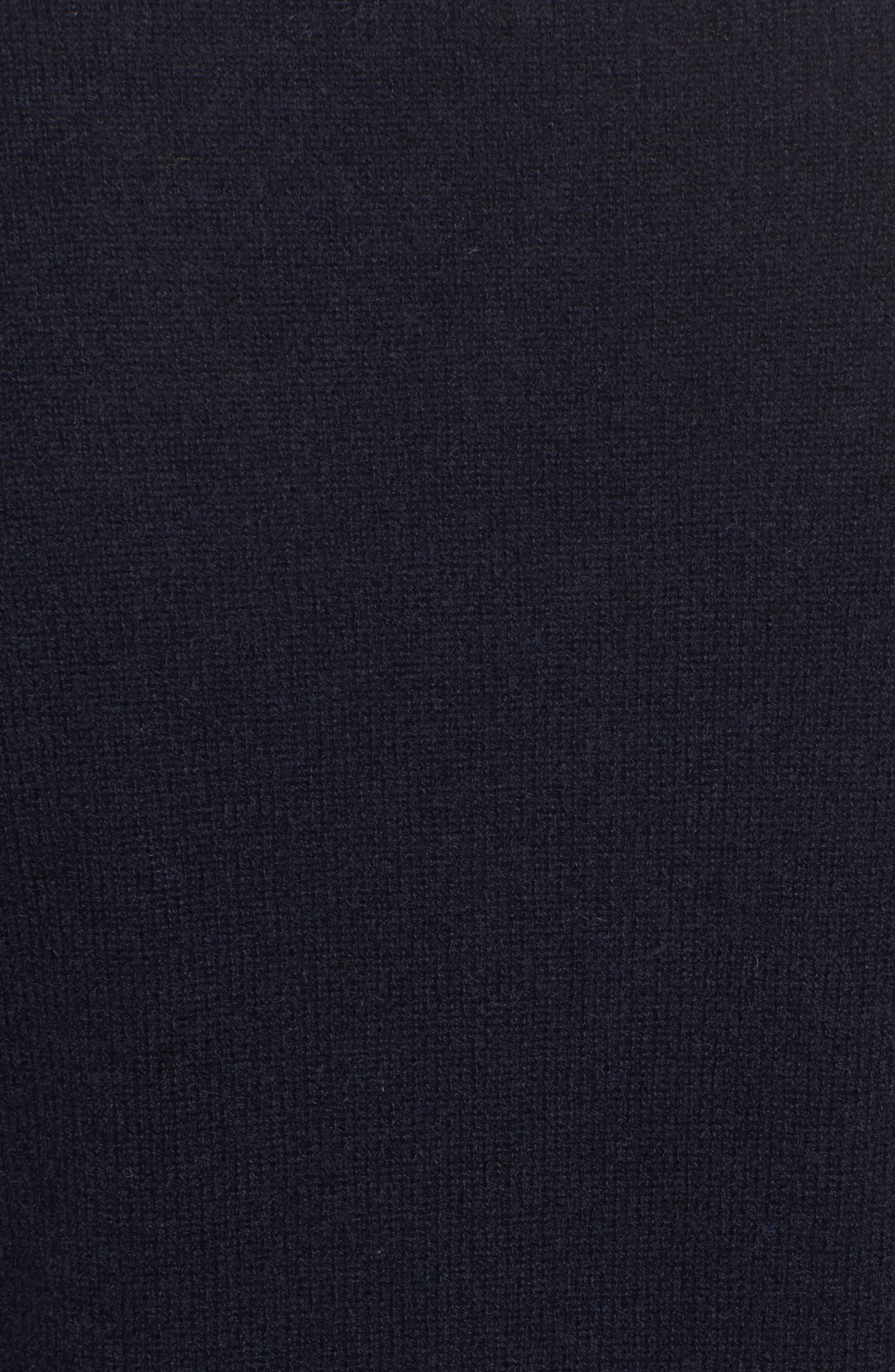 Cashmere V-Neck Sweater,                             Alternate thumbnail 5, color,                             French Navy