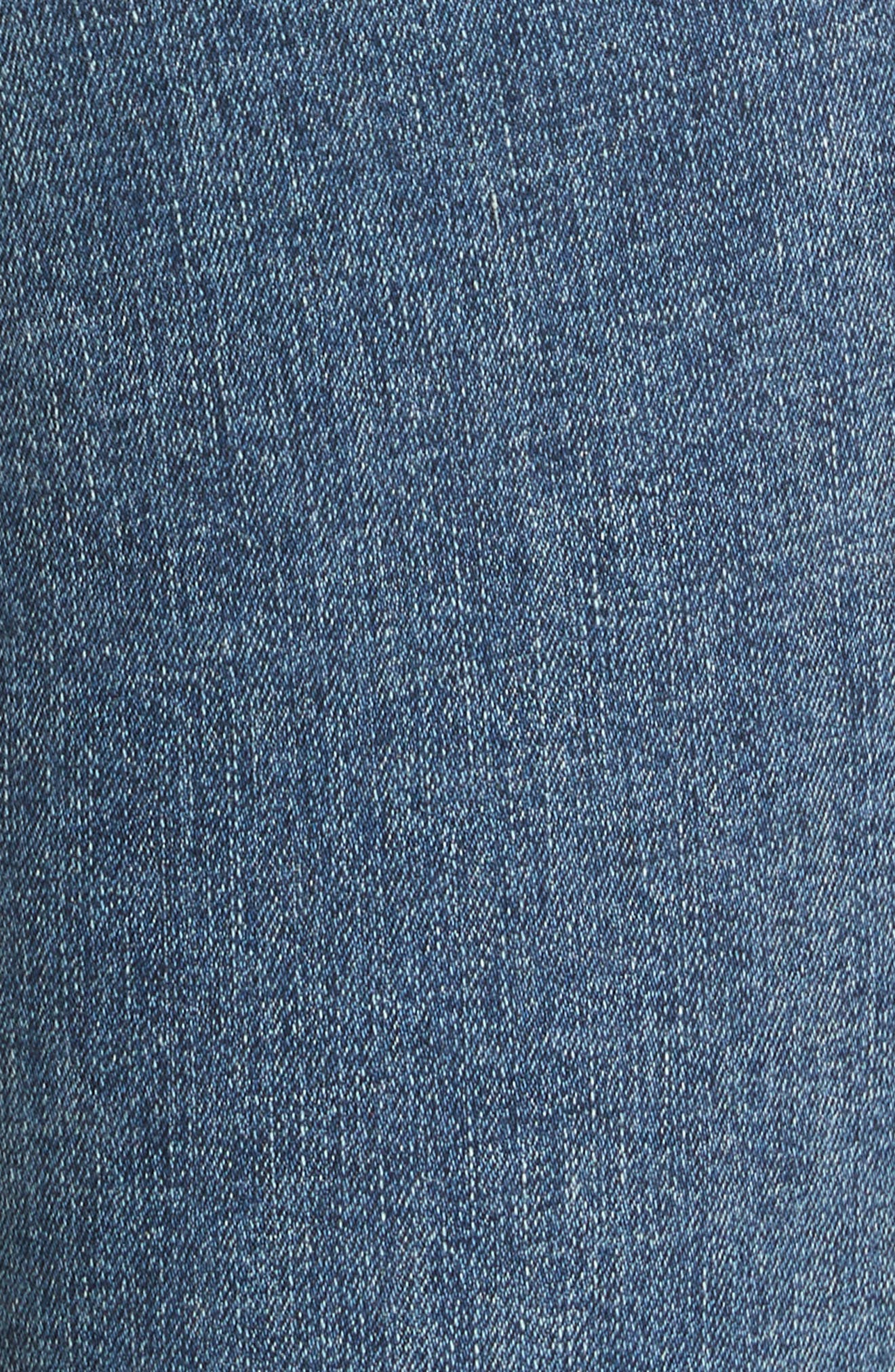 High Waist Ankle Skinny Jeans,                             Alternate thumbnail 5, color,                             Clean Commodore