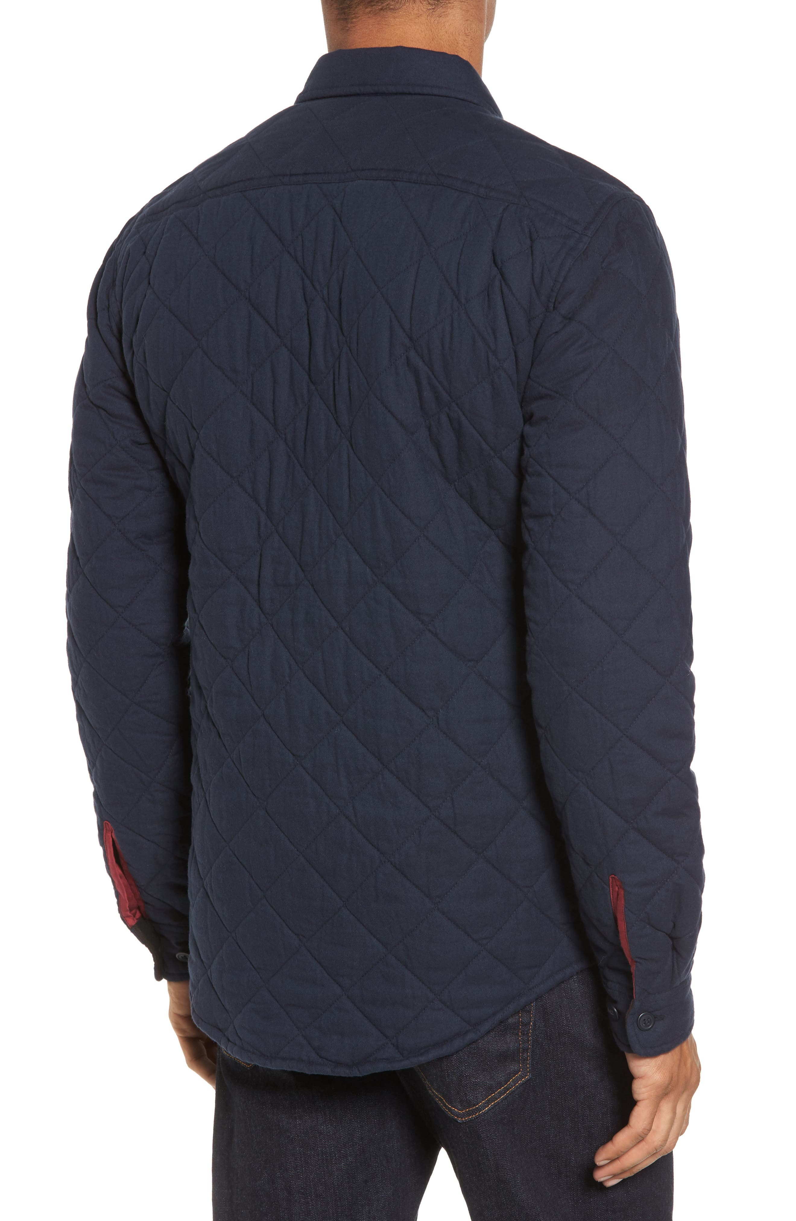 Quilted Shirt Jacket,                             Alternate thumbnail 2, color,                             Navy