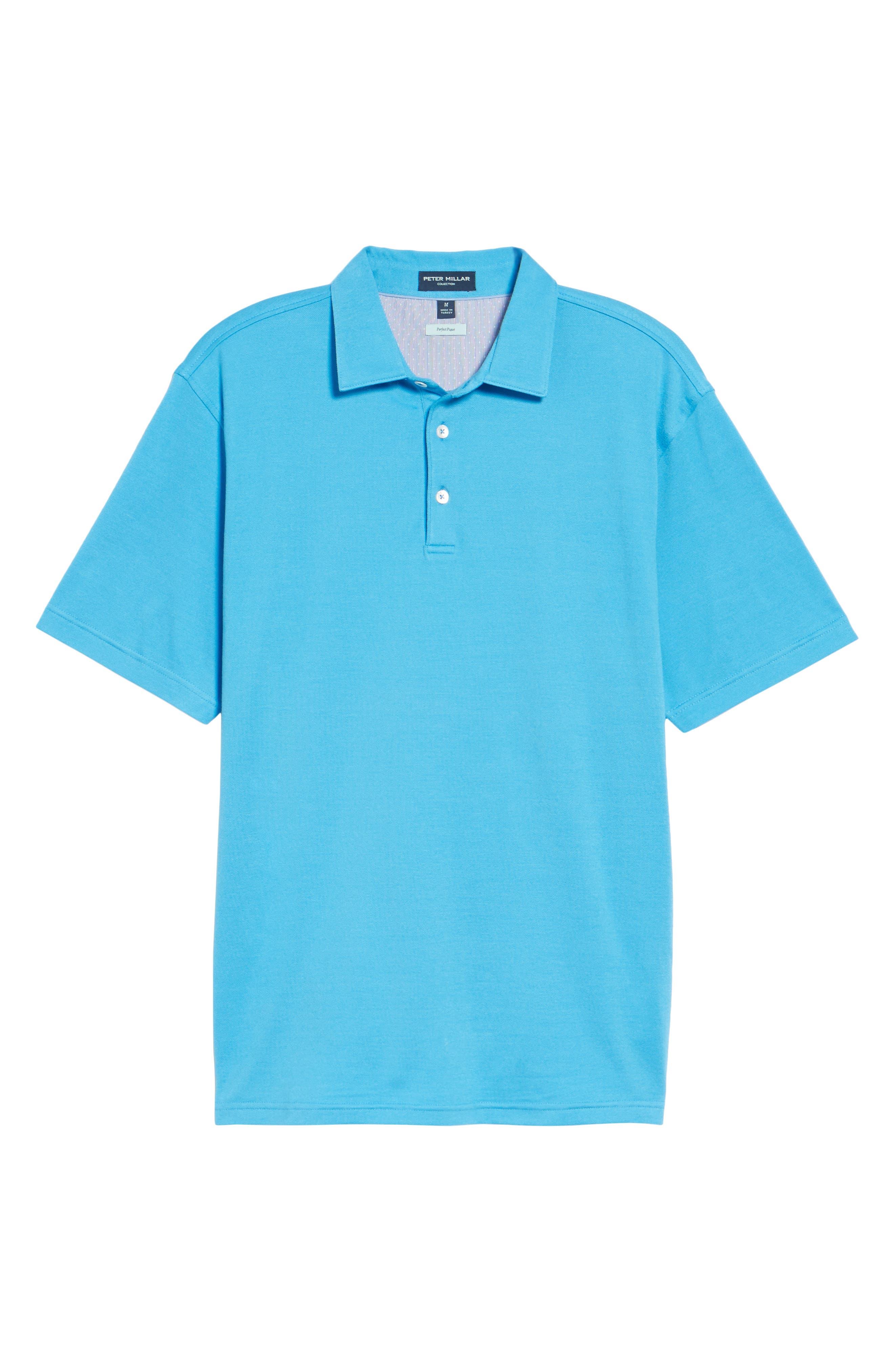 The Perfect Piqué Polo,                             Alternate thumbnail 6, color,                             Onda Blue
