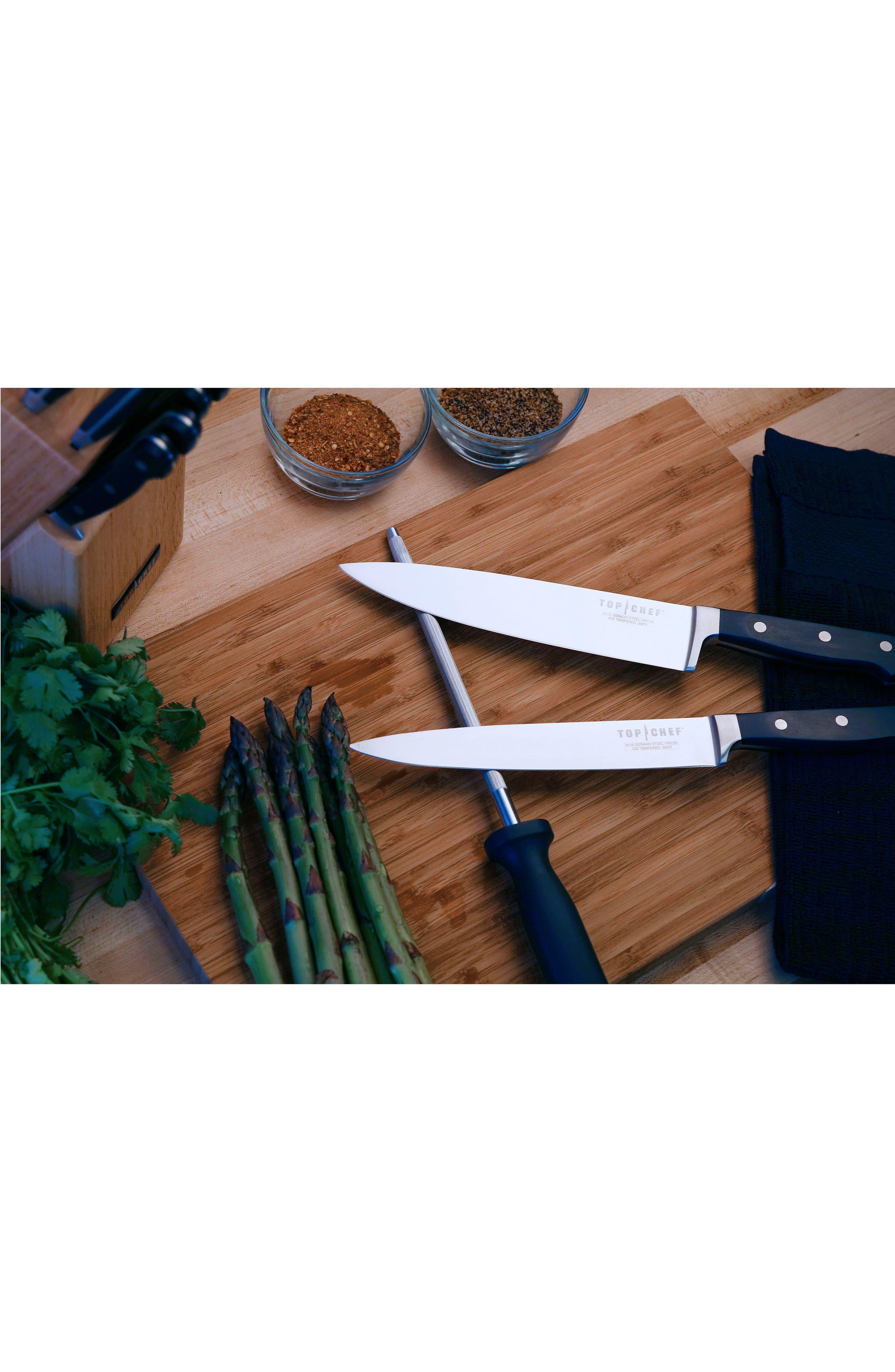 Premier 9-Piece Knife Block Set,                             Alternate thumbnail 2, color,                             Black