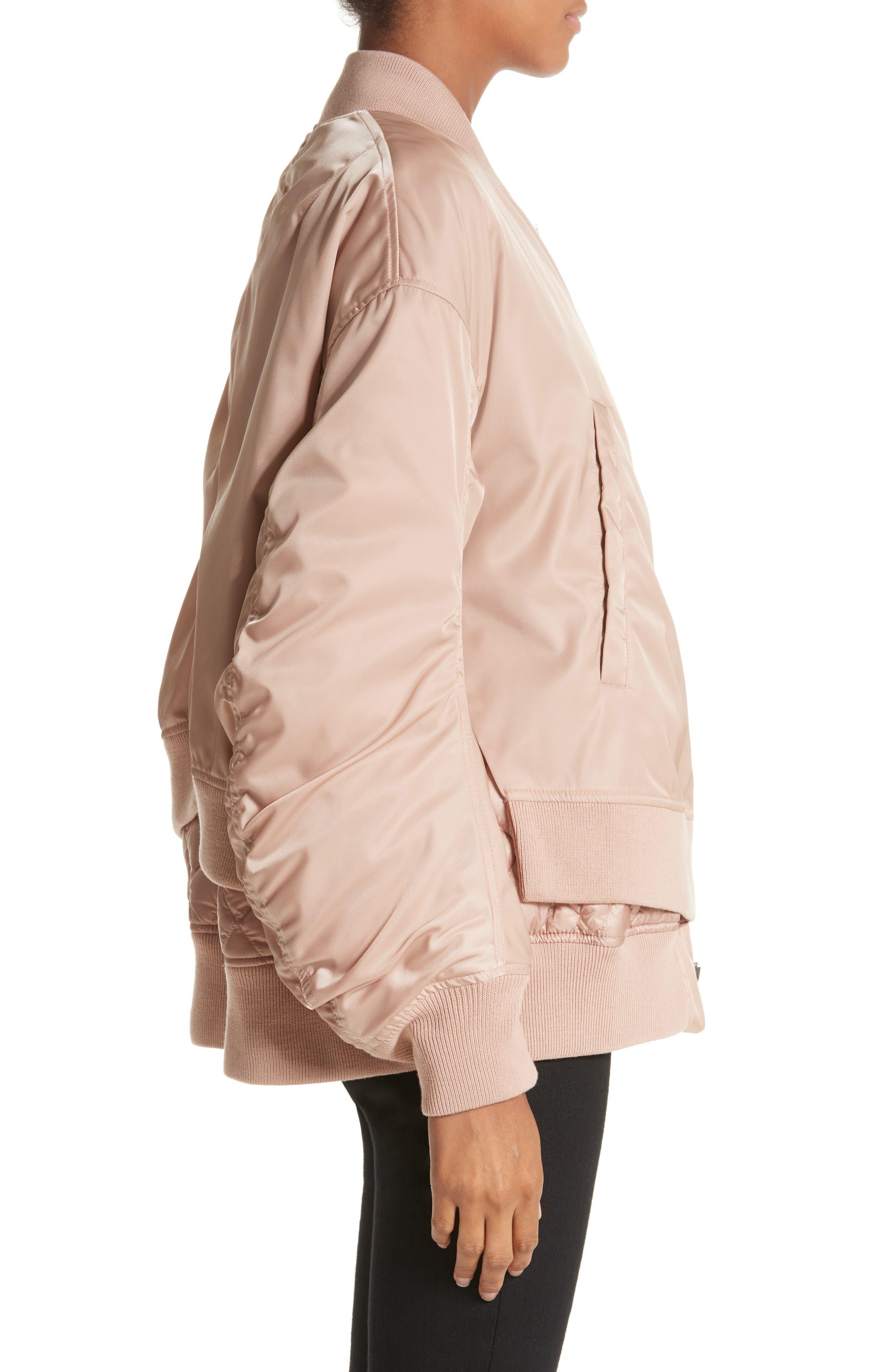 Aralia Layered Bomber Jacket,                             Alternate thumbnail 3, color,                             Pink