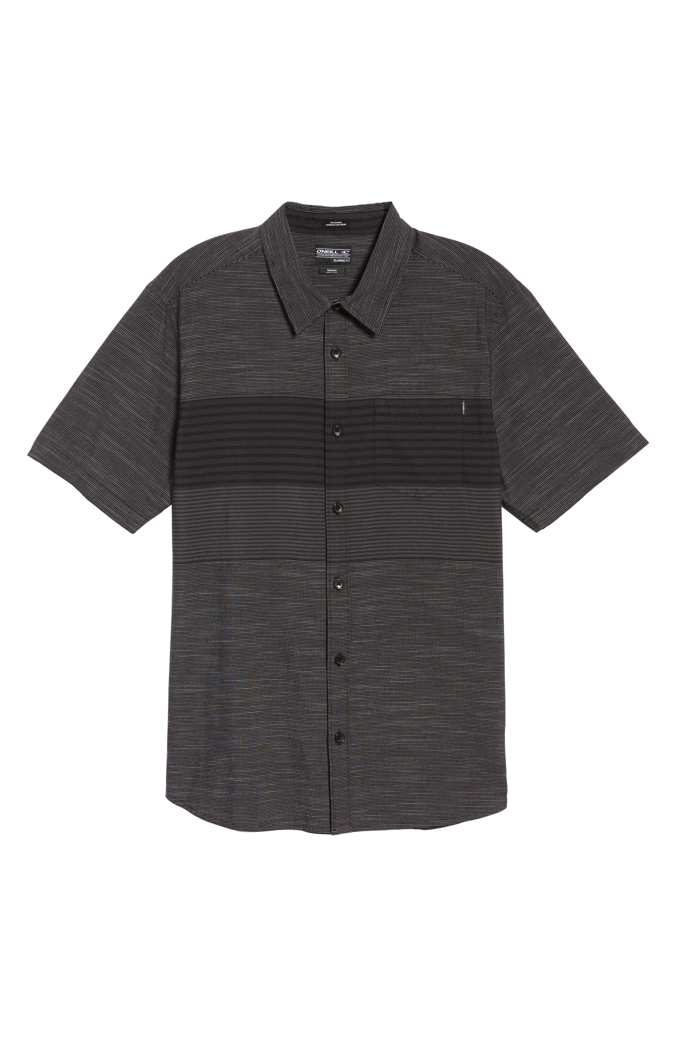 Altair Stripe Sport Shirt,                             Alternate thumbnail 6, color,                             Black