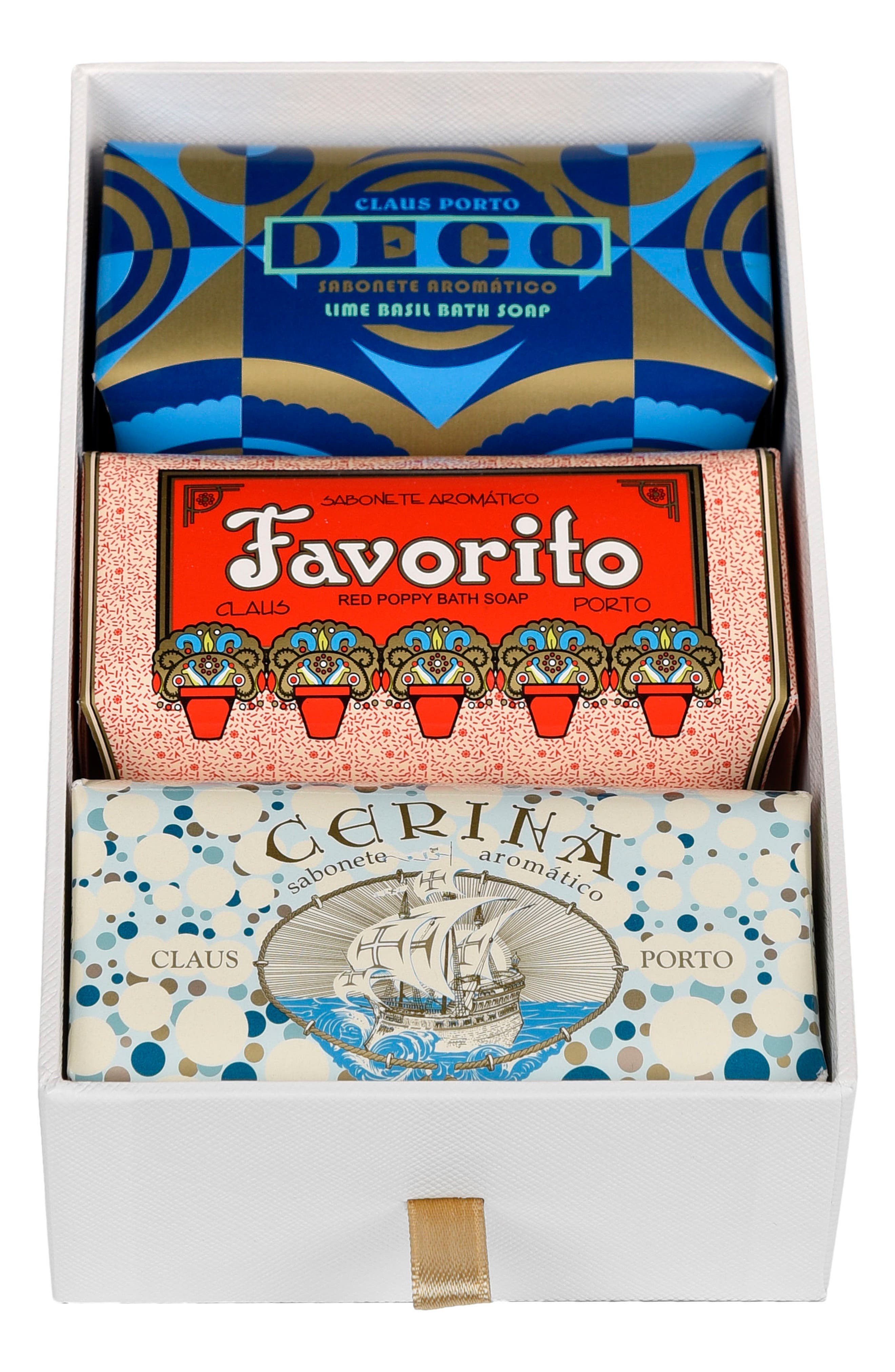 Main Image - Claus Porto Deco - Favorito, Deco & Cerina Soap Trio