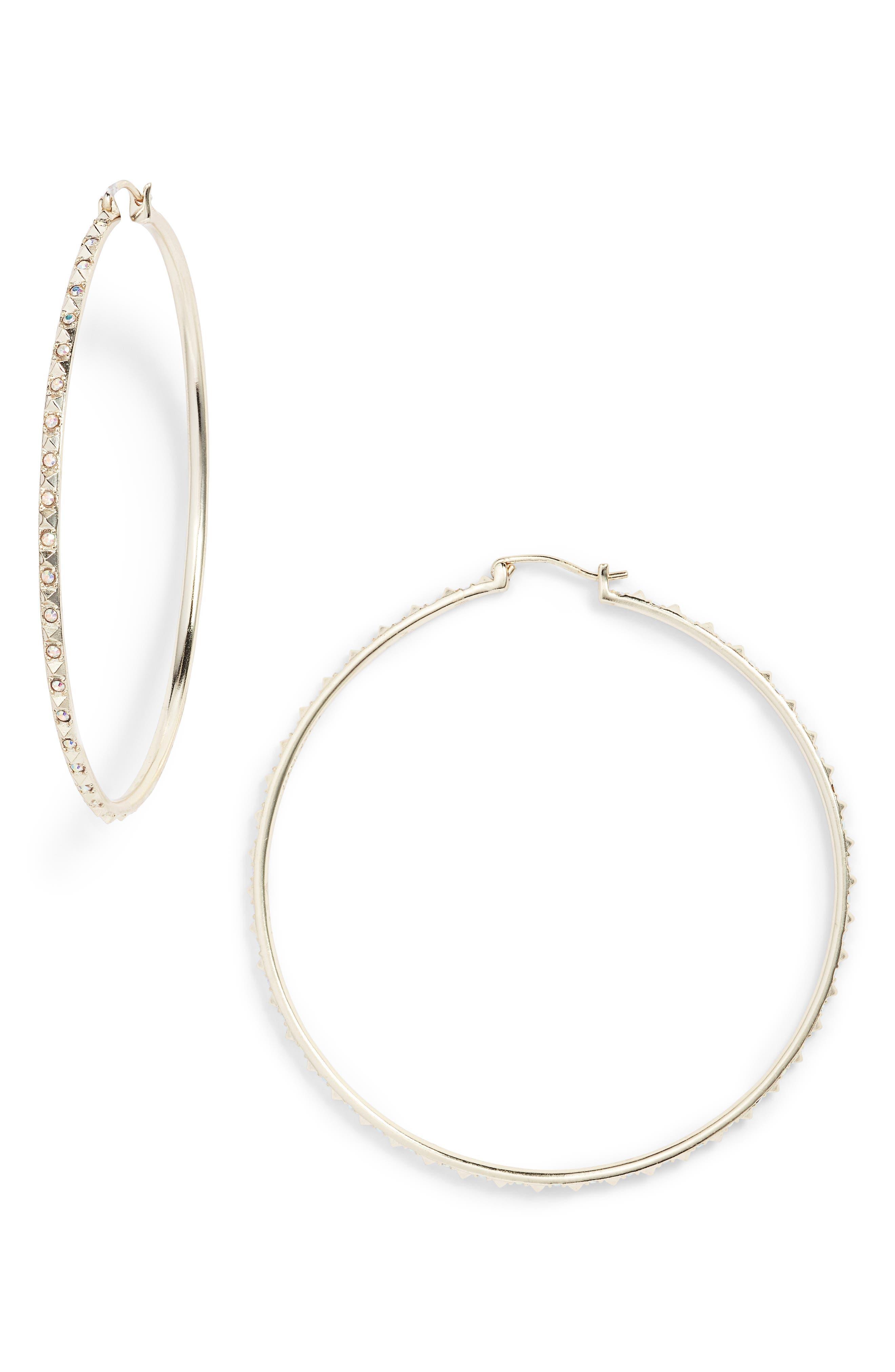Kendra Scott Annemarie Crystal Studded Hoop Earrings