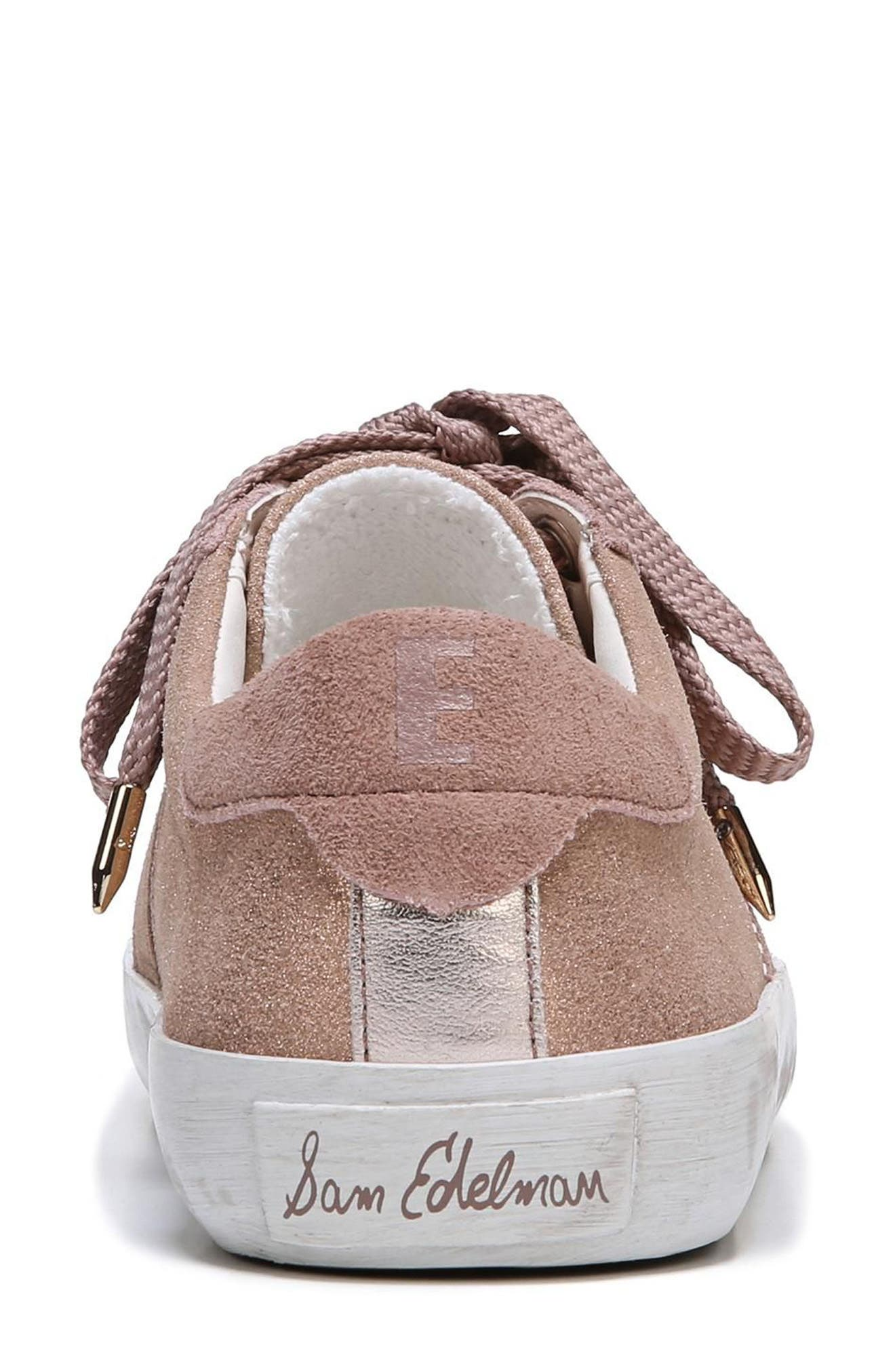 Baylee Sneaker,                             Alternate thumbnail 6, color,                             Blush Suede