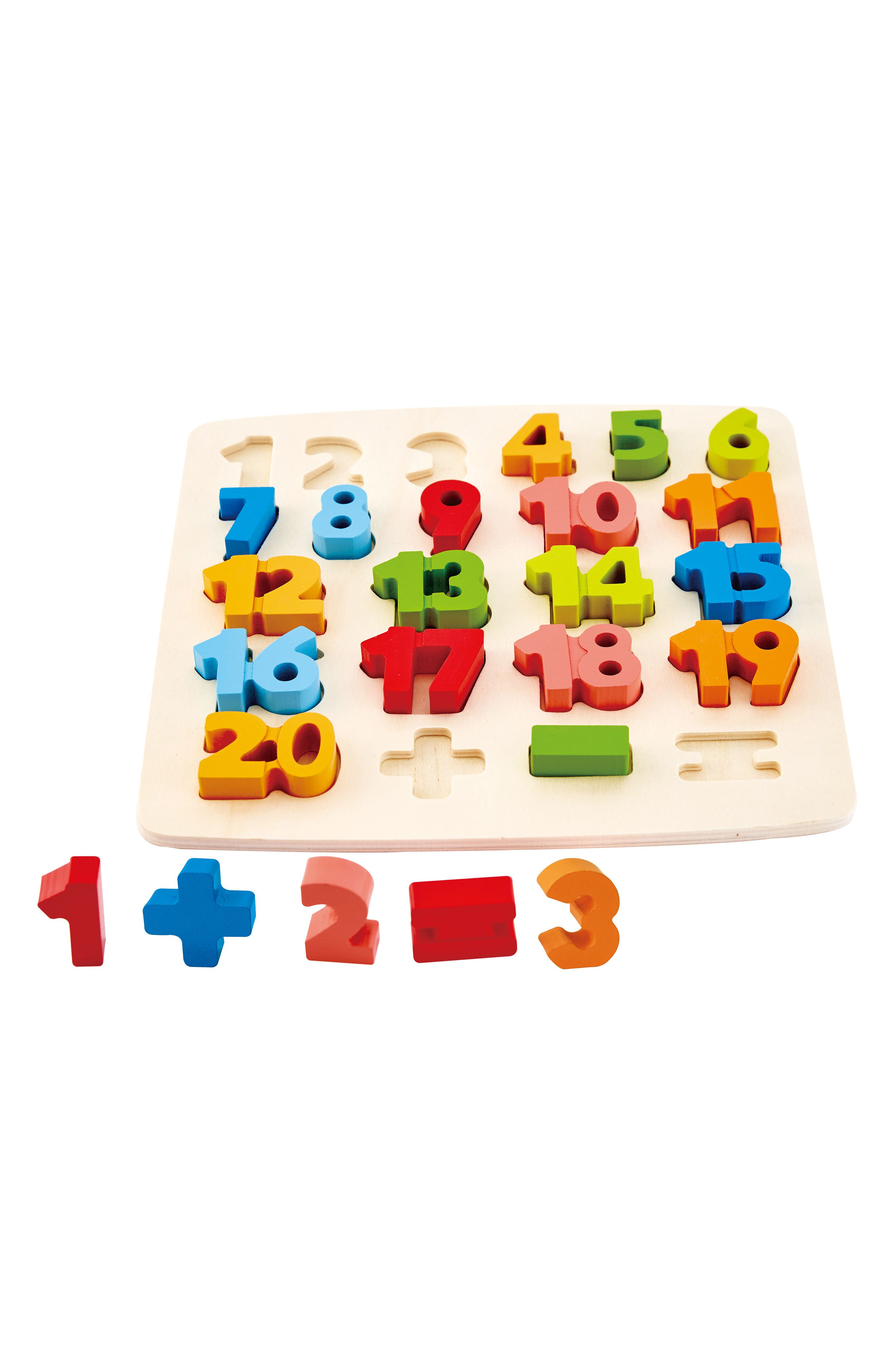 24-Piece Chunky Math Puzzle,                             Alternate thumbnail 4, color,                             Green