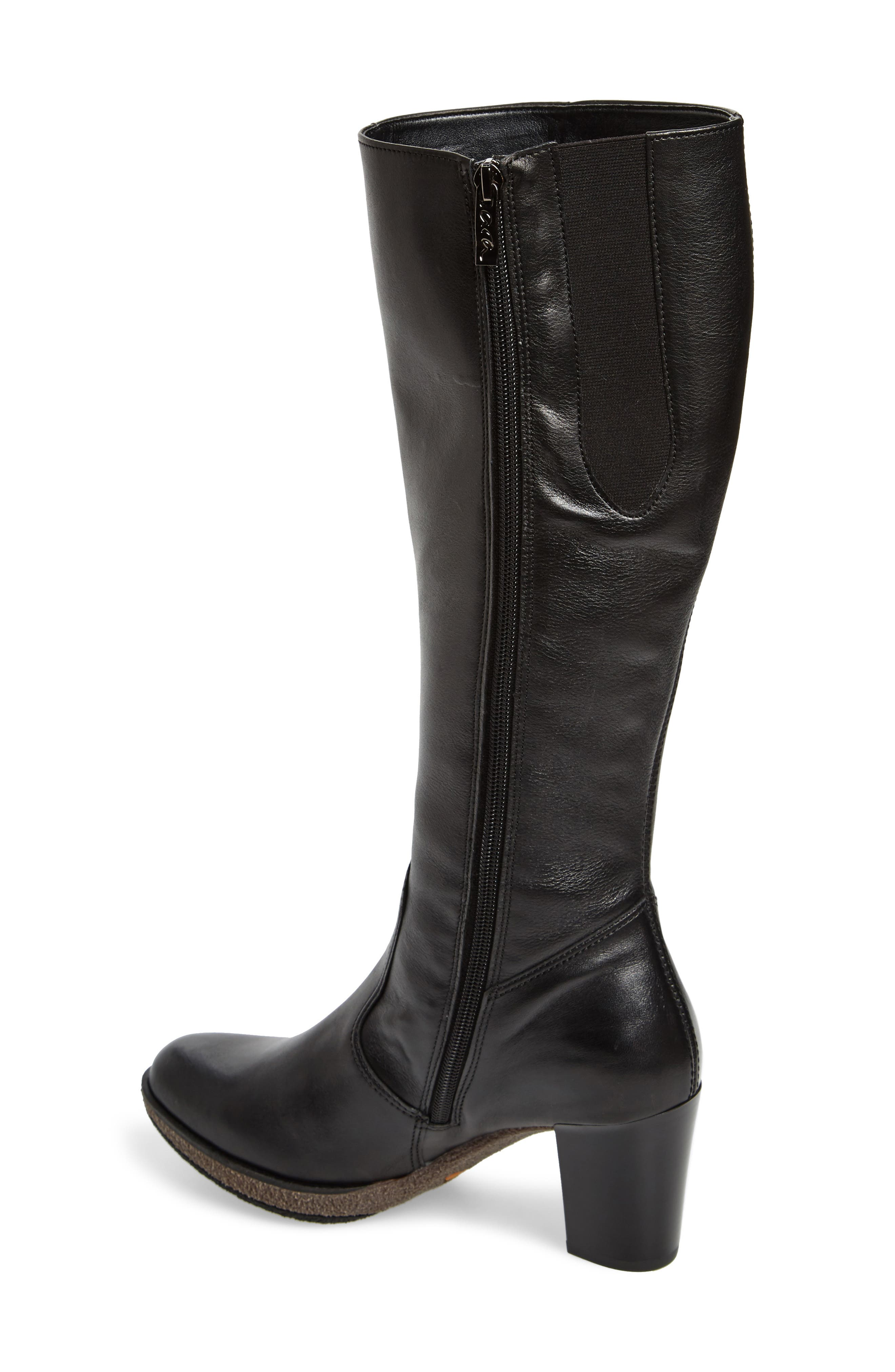 Bexley Knee High Boot,                             Alternate thumbnail 2, color,                             Black Leather