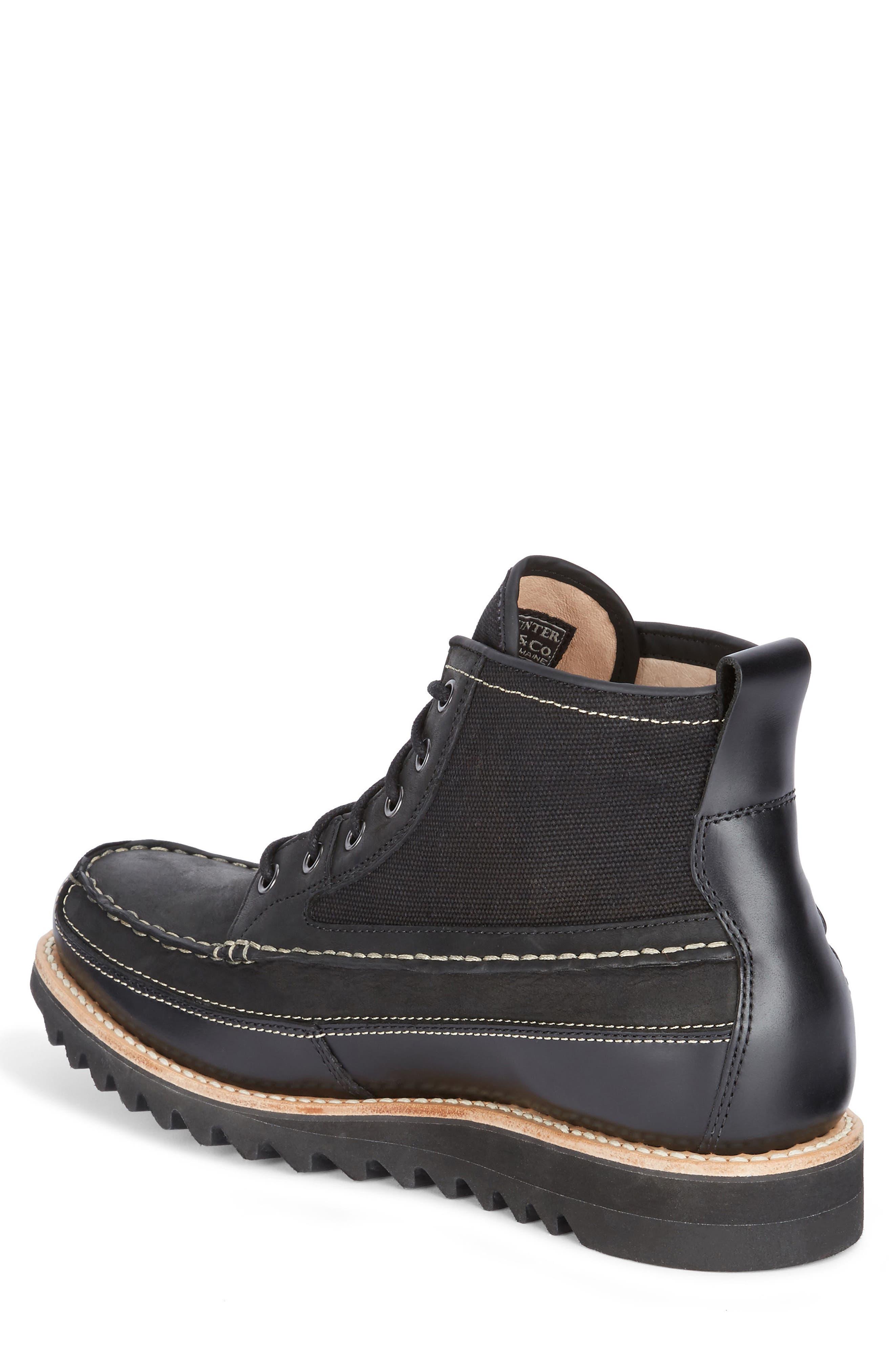 Nickson Razor Moc Toe Boot,                             Alternate thumbnail 2, color,                             Black