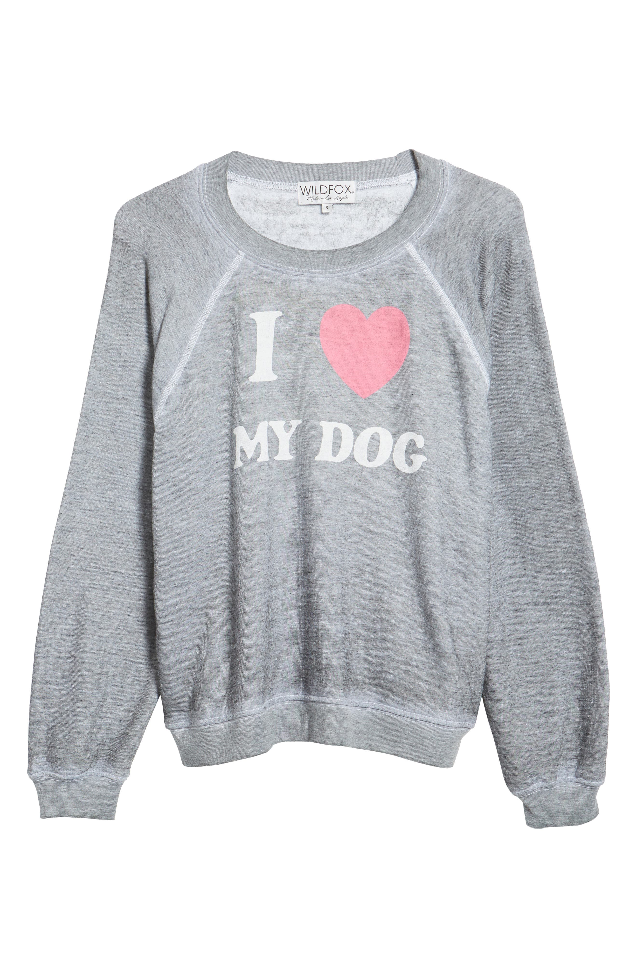 I Love My Dog - Sommers Sweatshirt,                             Alternate thumbnail 6, color,                             Heather