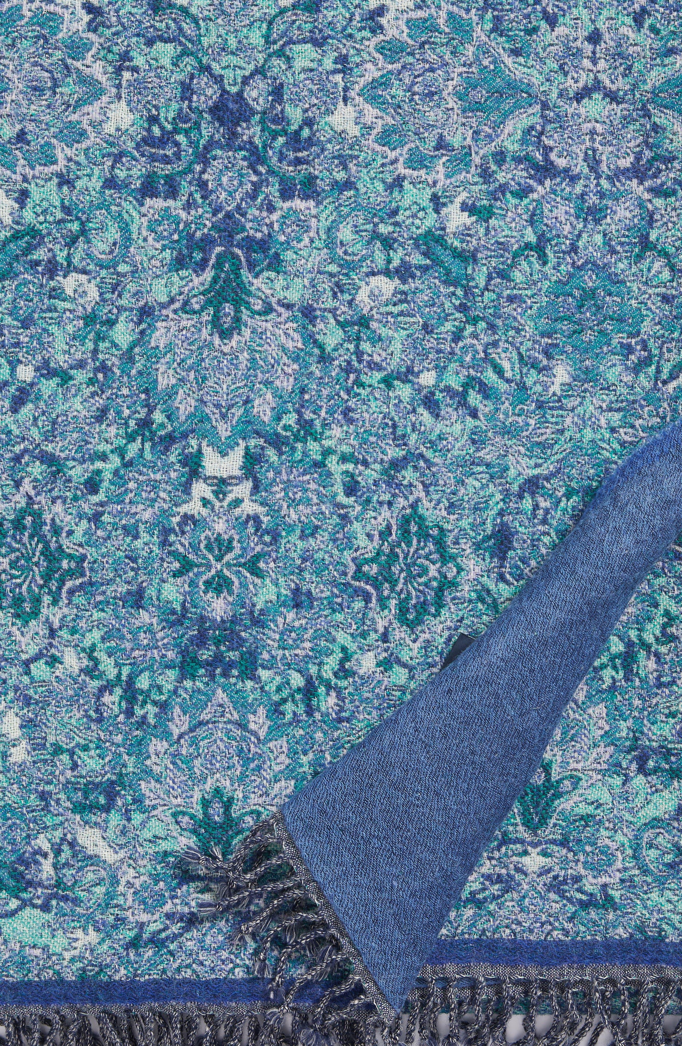 Alternate Image 4  - Modern Staples Flower Double Face Merino Wool Throw