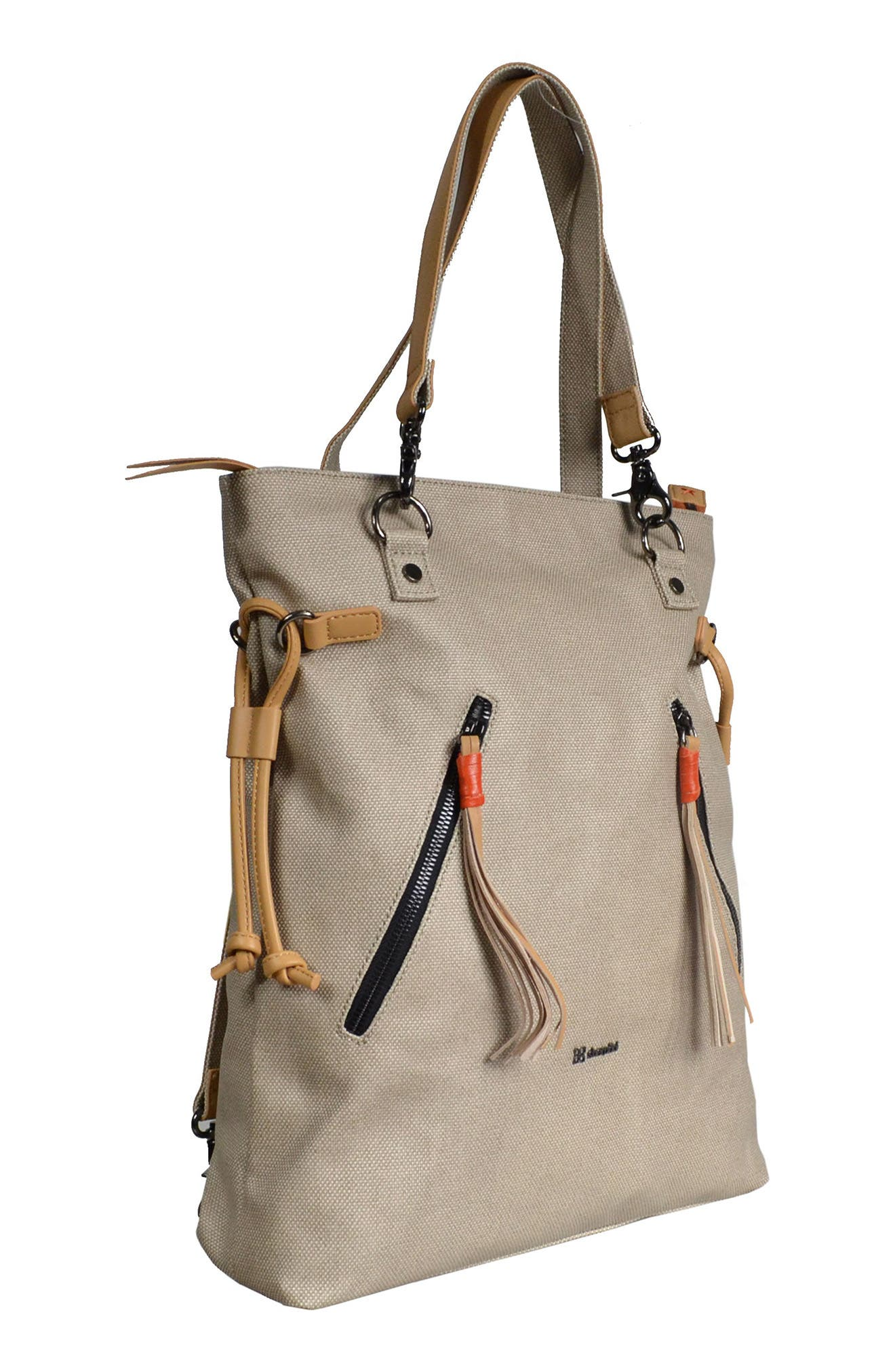 Tempest Canvas Convertible Backpack,                             Alternate thumbnail 2, color,                             Natural