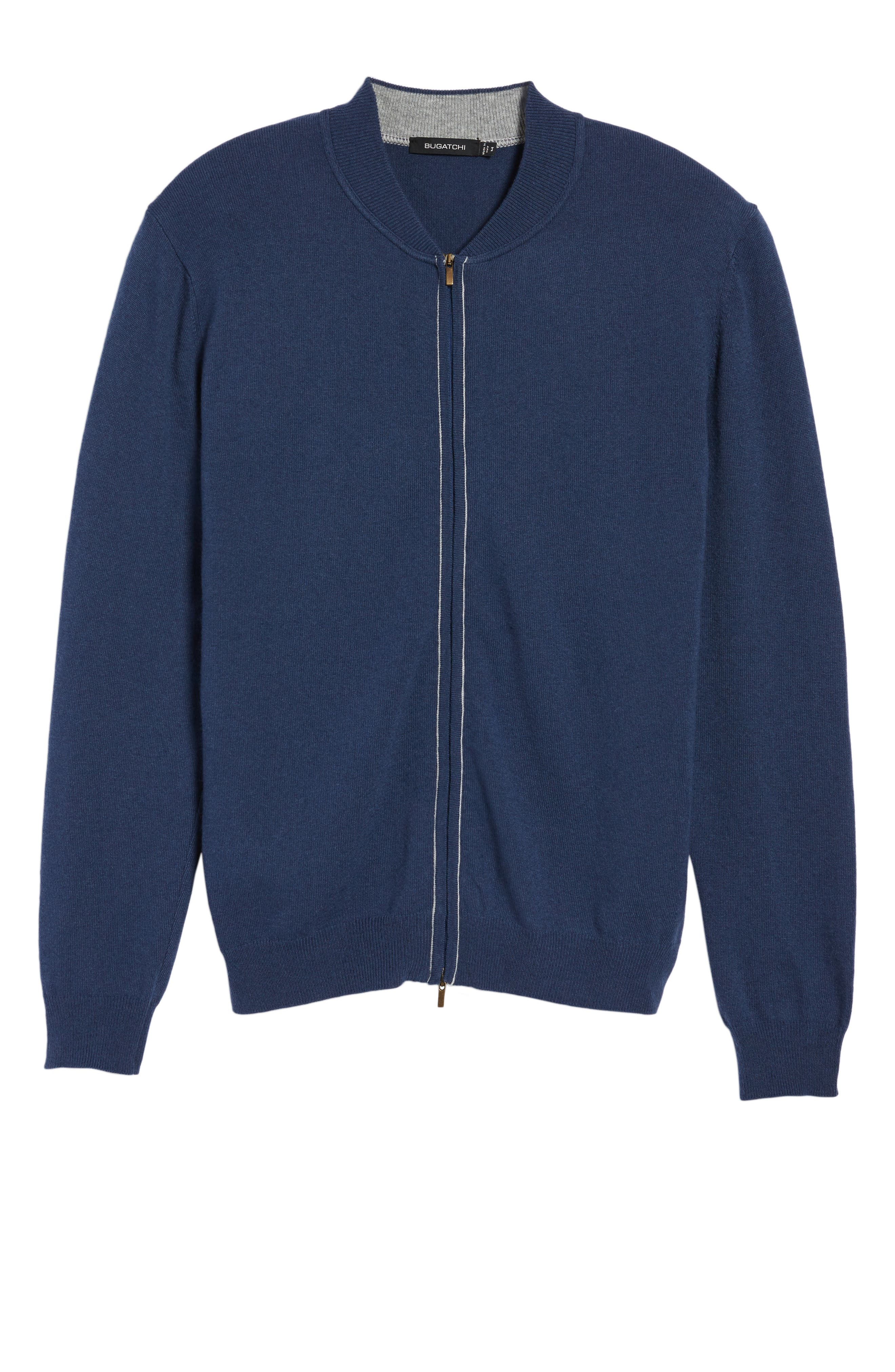 Zip Sweater,                             Alternate thumbnail 6, color,                             Classic Blue