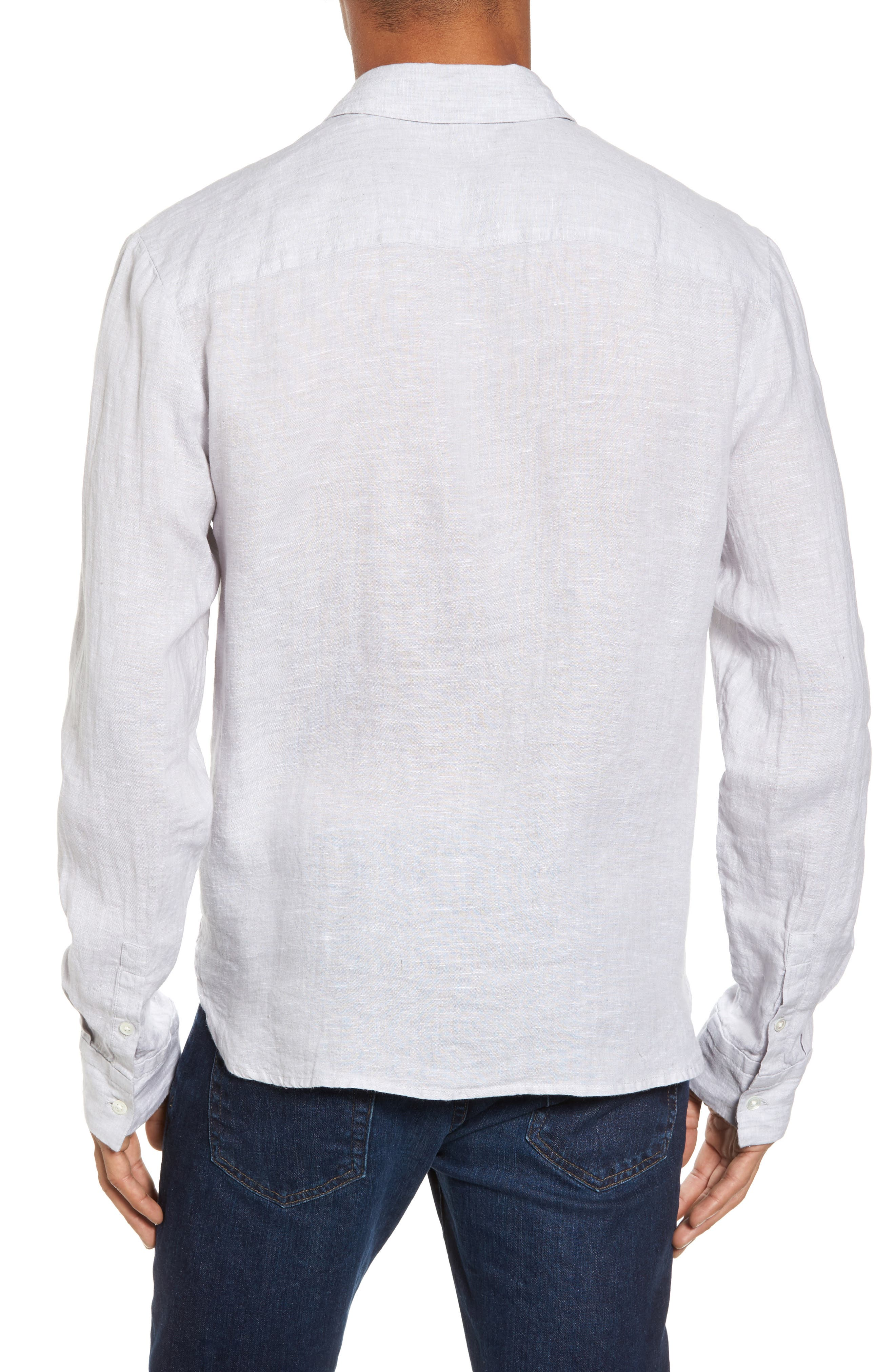 Alternate Image 2  - James Perse Slim Fit Linen Sport Shirt