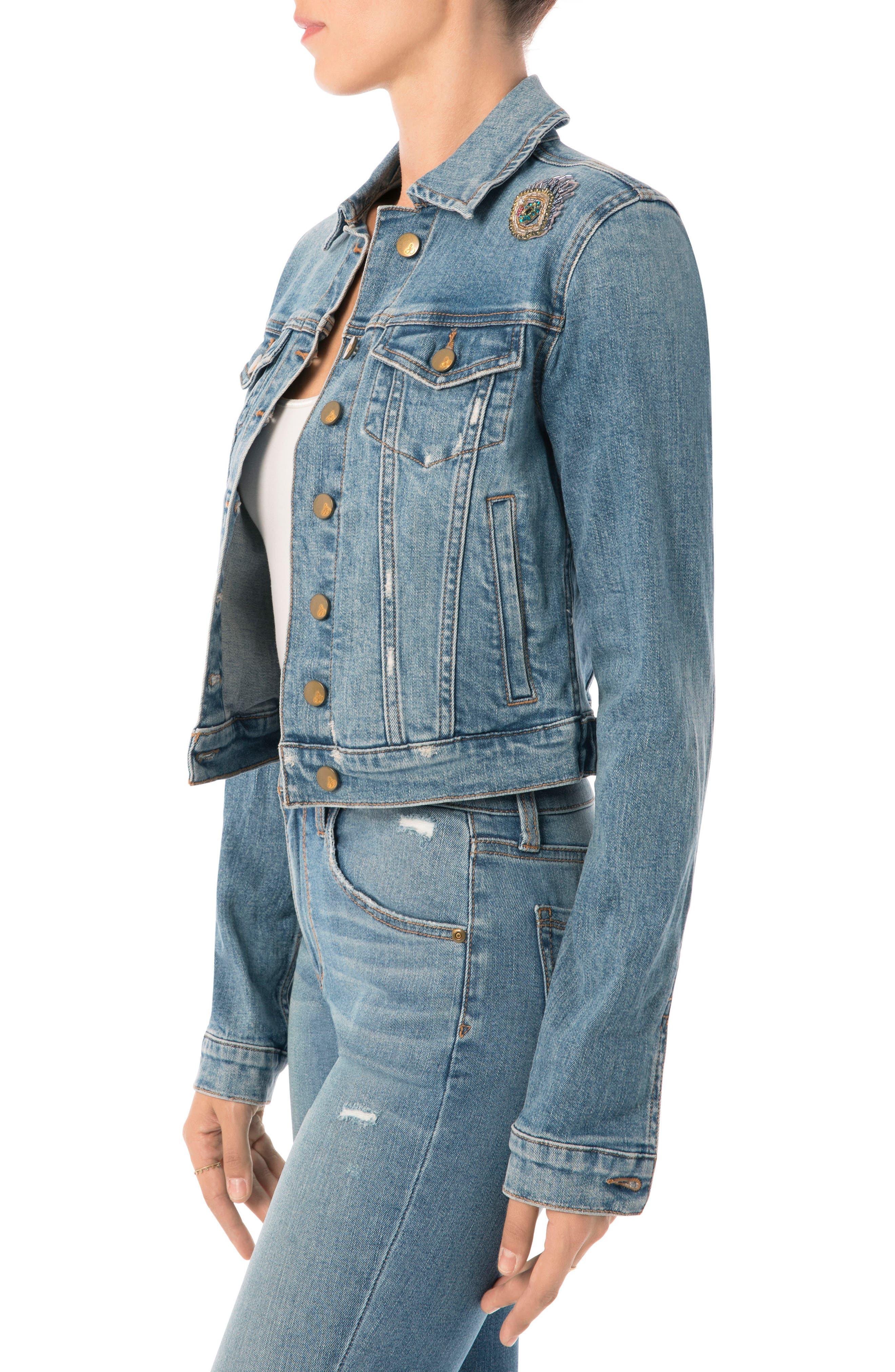 Alternate Image 3  - Sam Edelman Bridget Embellished Denim Jacket