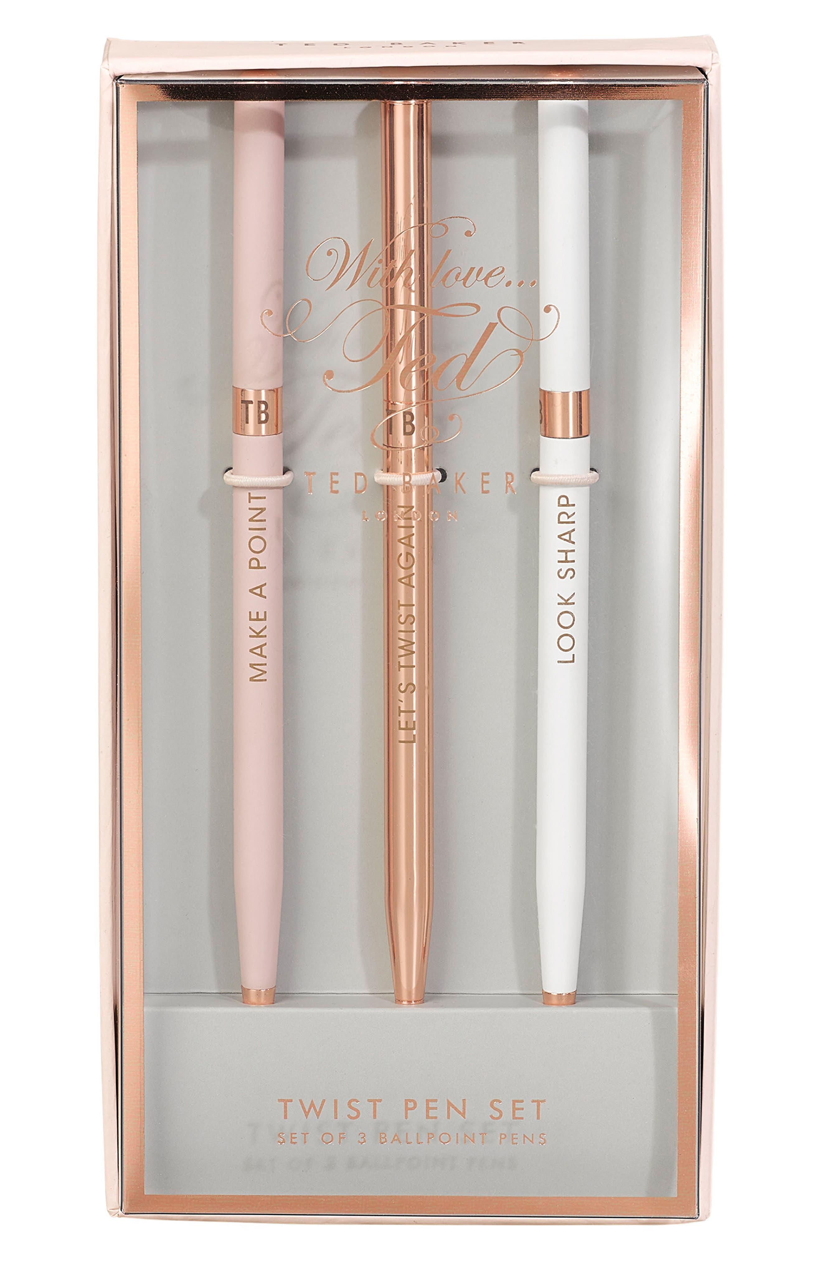 Ted Baker London Set of 3 Ballpoint Pens
