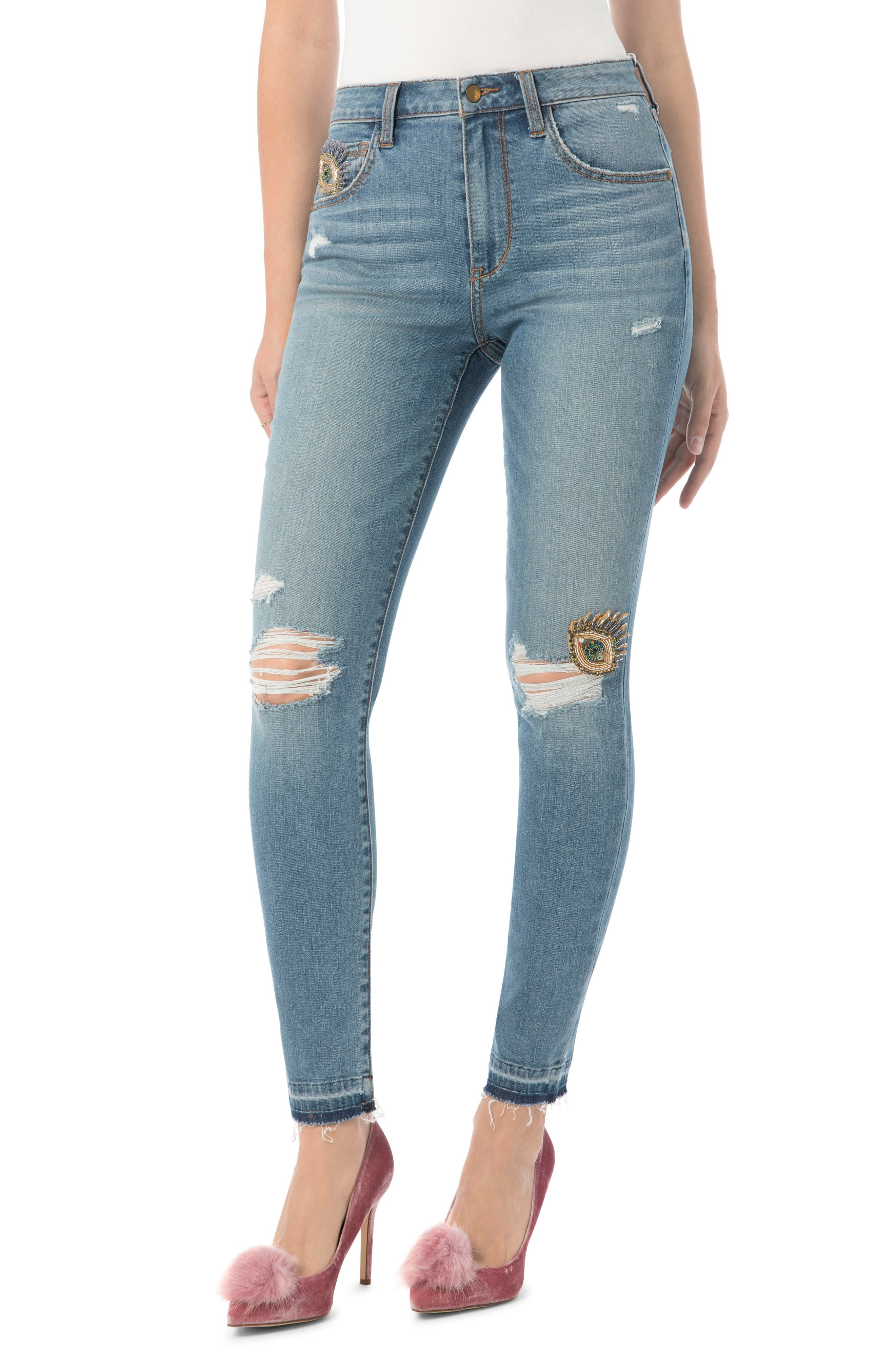 The Stiletto High Rise Skinny Jean,                             Main thumbnail 1, color,                             Blythe