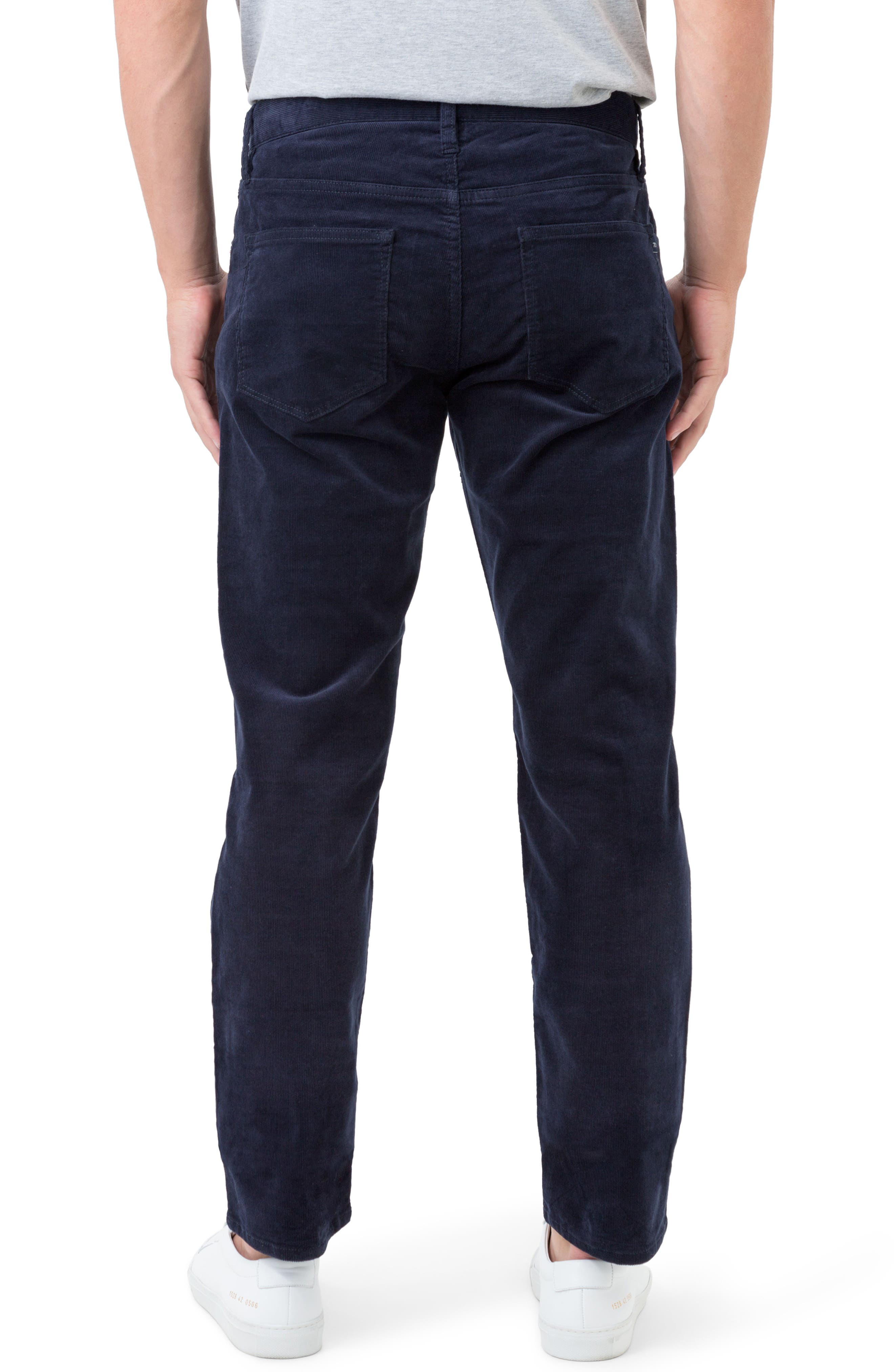 Courtland Slim Fit Corduroy Pants,                             Alternate thumbnail 2, color,                             Navy