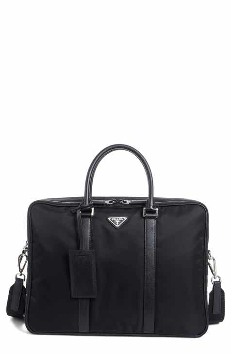 d7c019ac69f3 Prada Nylon Briefcase with Saffiano Leather Trim