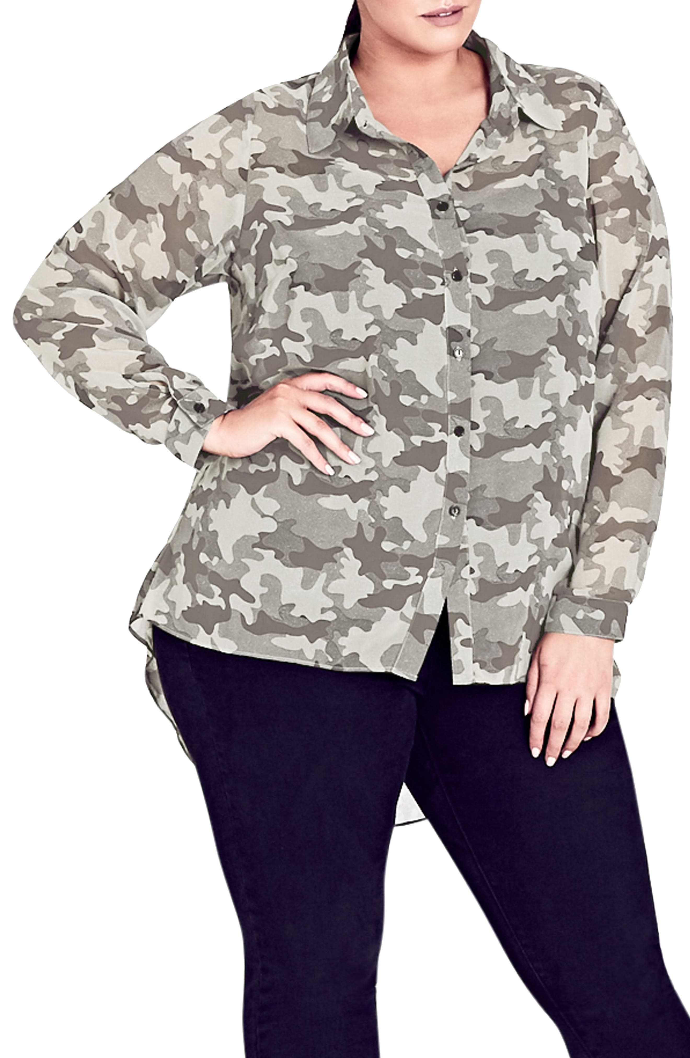 Camo Print Shirt,                         Main,                         color, Camo