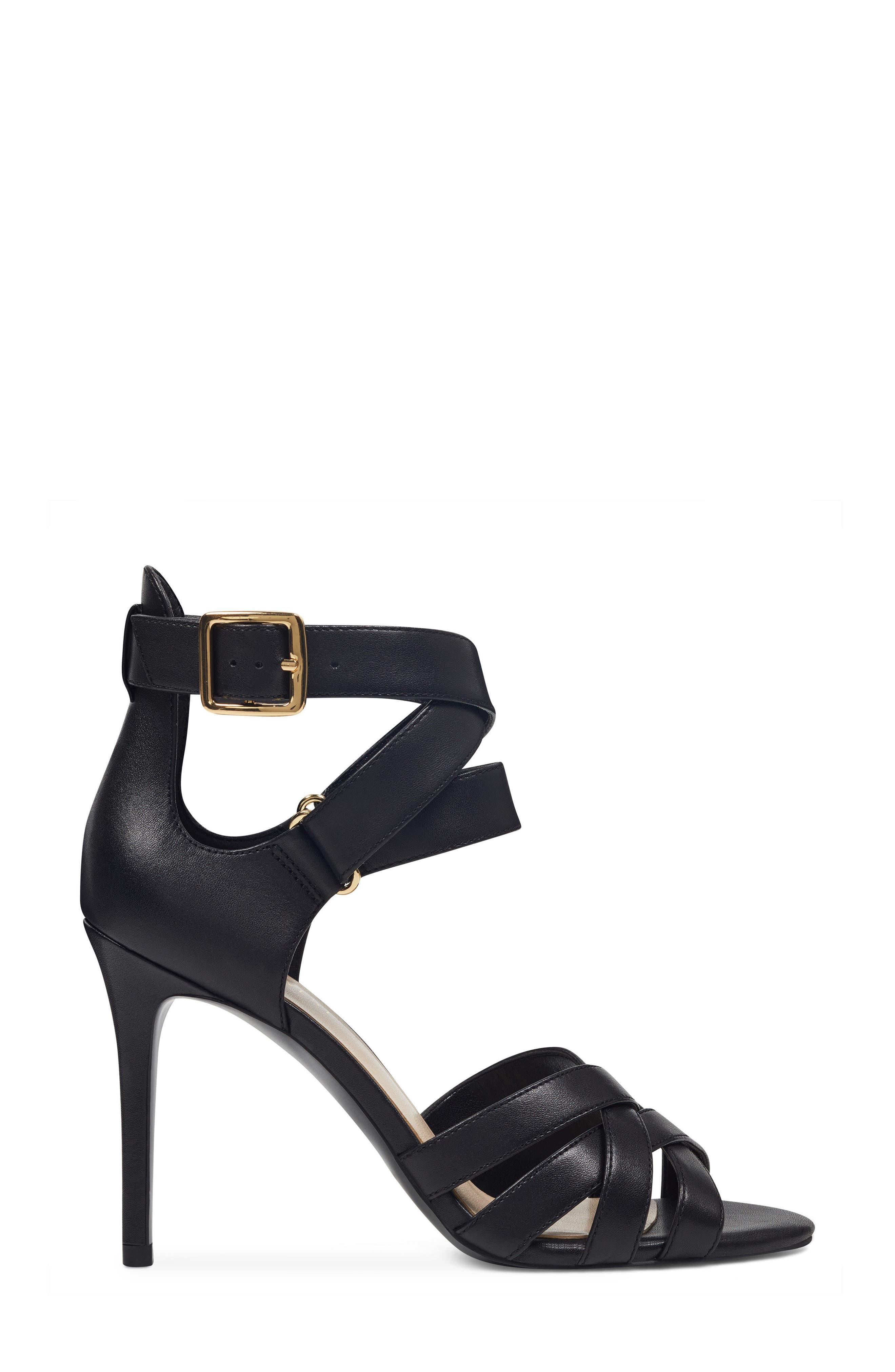 McGlynn Strappy Sandal,                             Alternate thumbnail 3, color,                             Black Leather