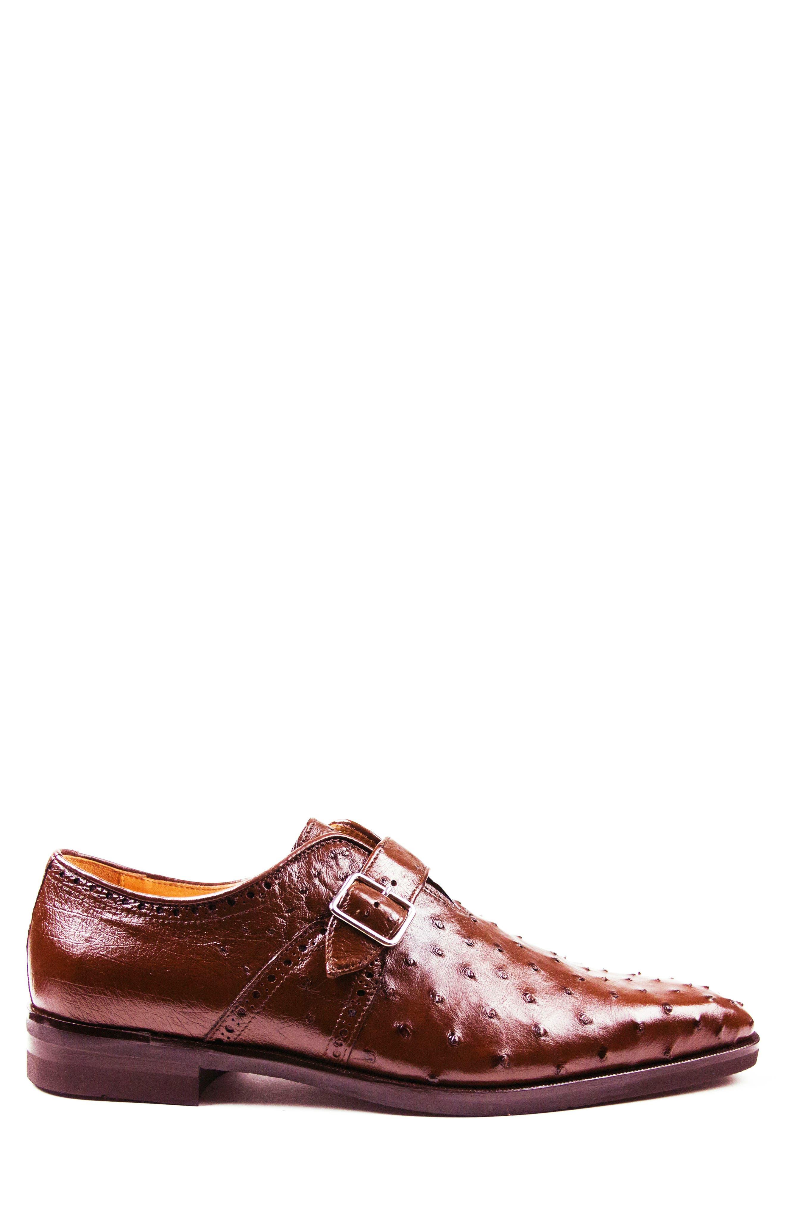 Alternate Image 3  - Zelli Antonio Monk Strap Ostrich Leather Shoe (Men)
