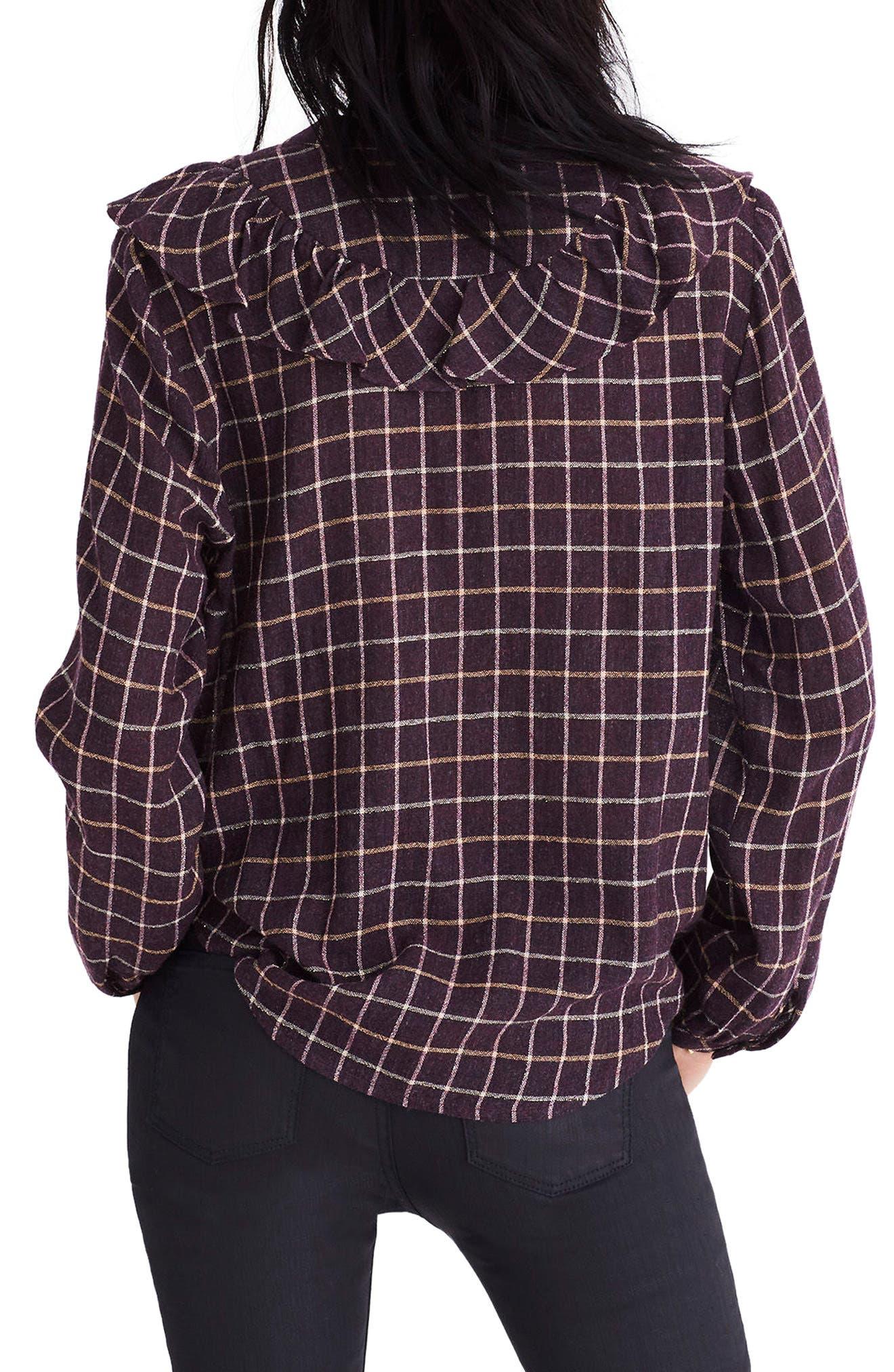 Alternate Image 2  - Madewell Plaid Ruffle Front Blouse