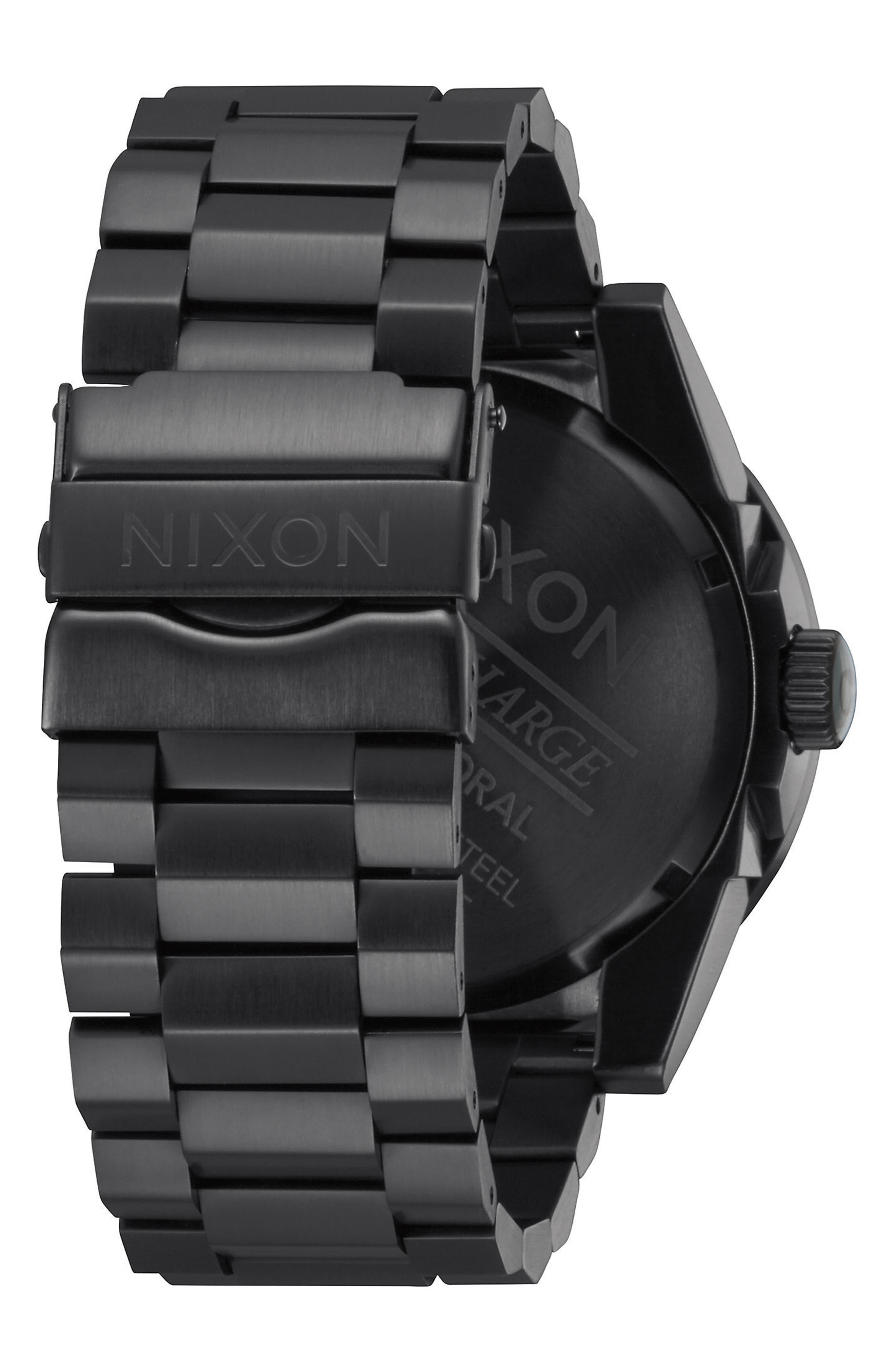 'The Corporal' Bracelet Watch, 48mm,                             Alternate thumbnail 2, color,                             Black