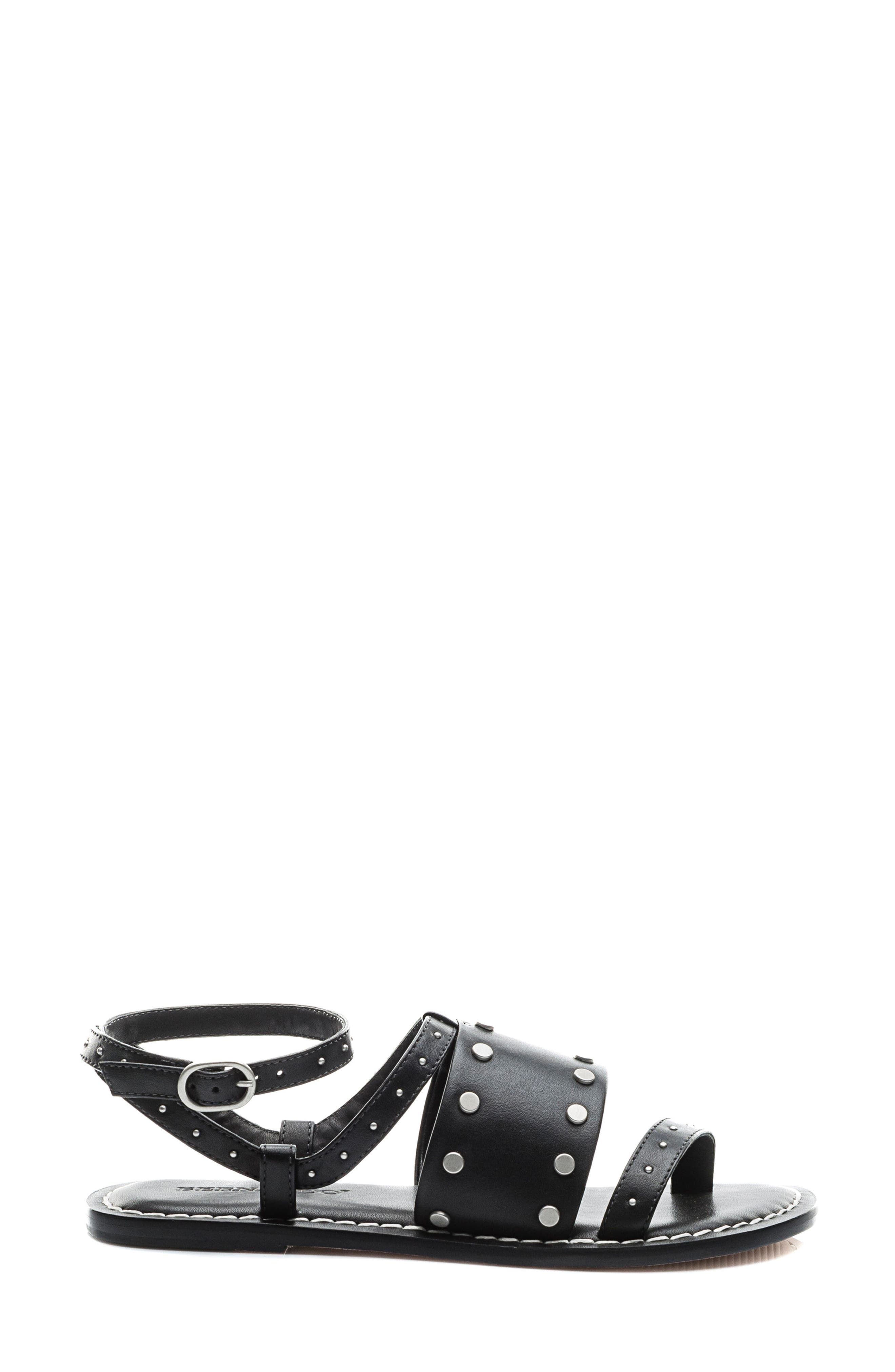 Bernardo Maisa Sandal,                             Alternate thumbnail 3, color,                             Black Leather