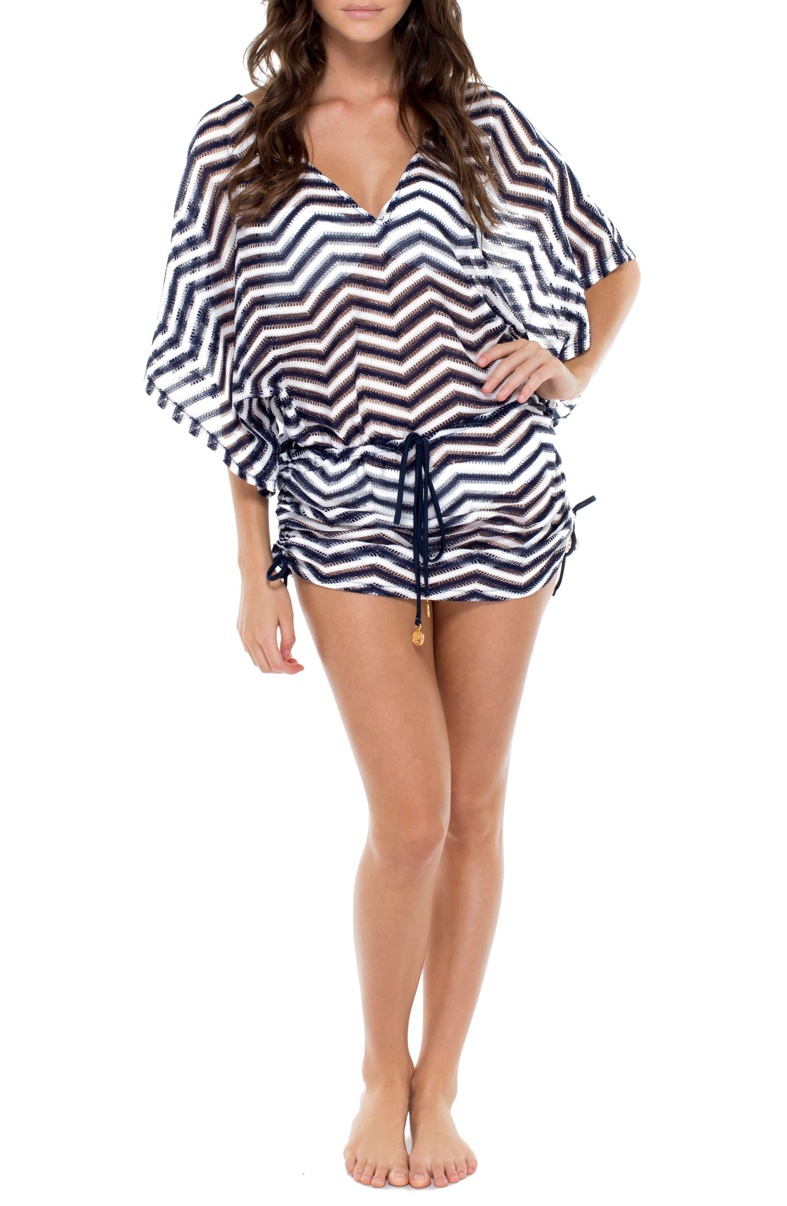 Cabana Cover-Up Dress,                         Main,                         color, Marino Blue