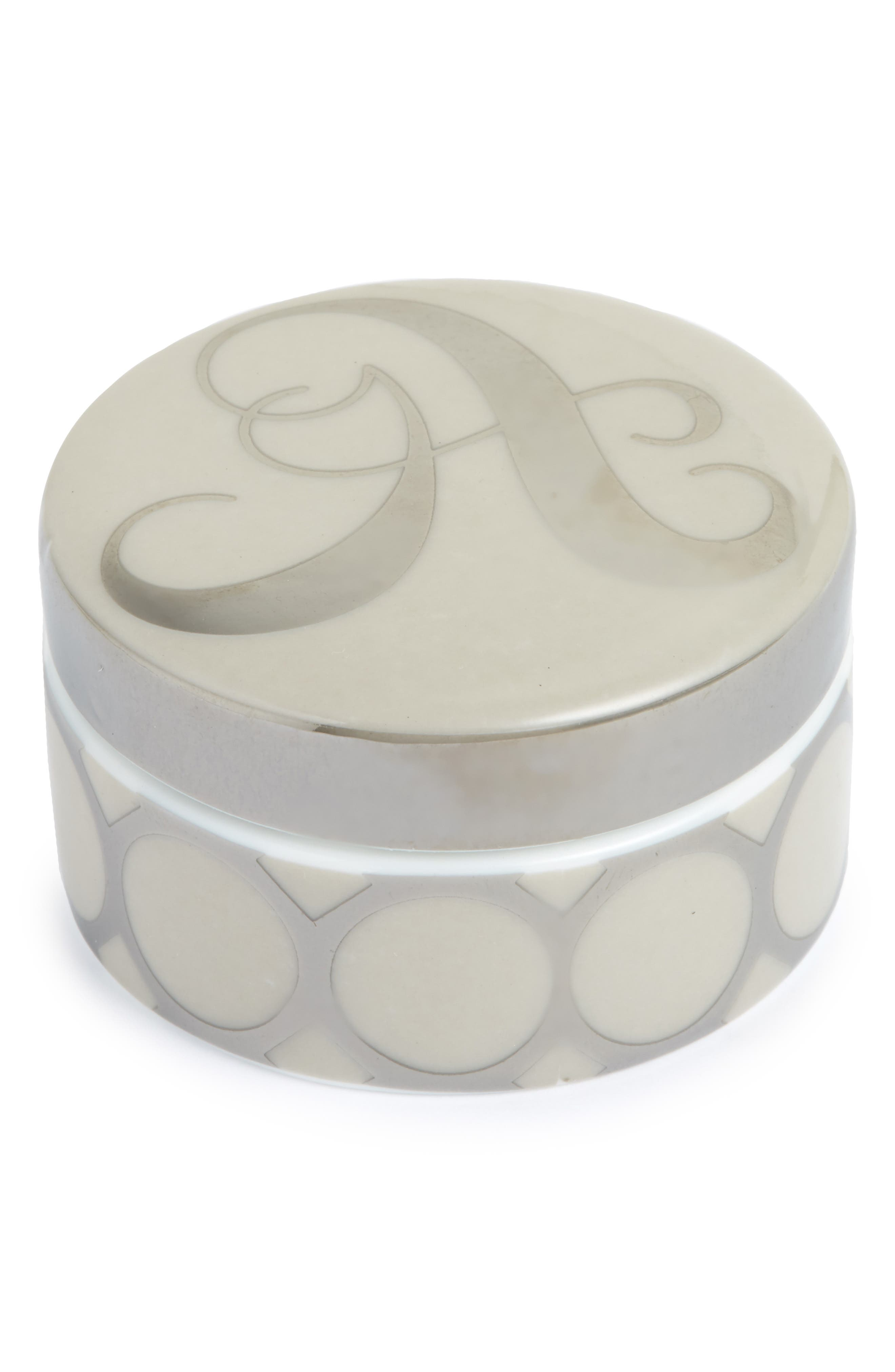 Rosanna Mini Monogram Porcelain Box