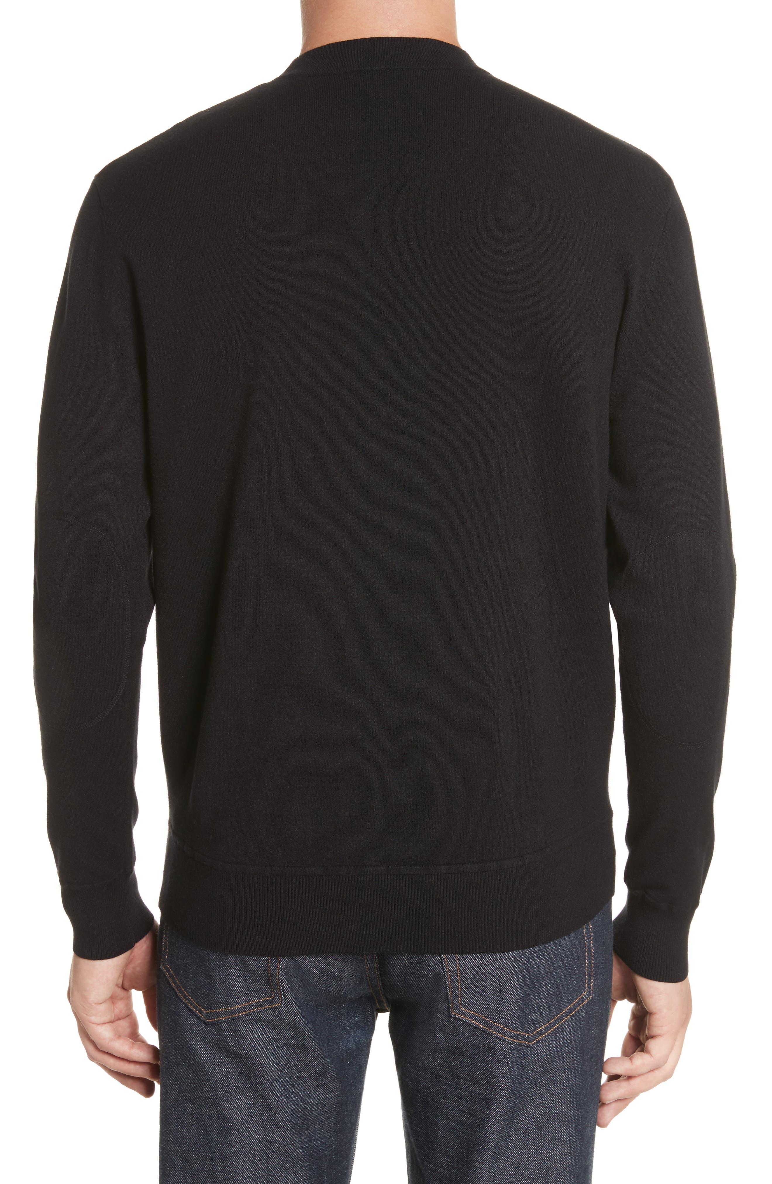 Ronnie Crewneck Sweatshirt,                             Alternate thumbnail 2, color,                             Black
