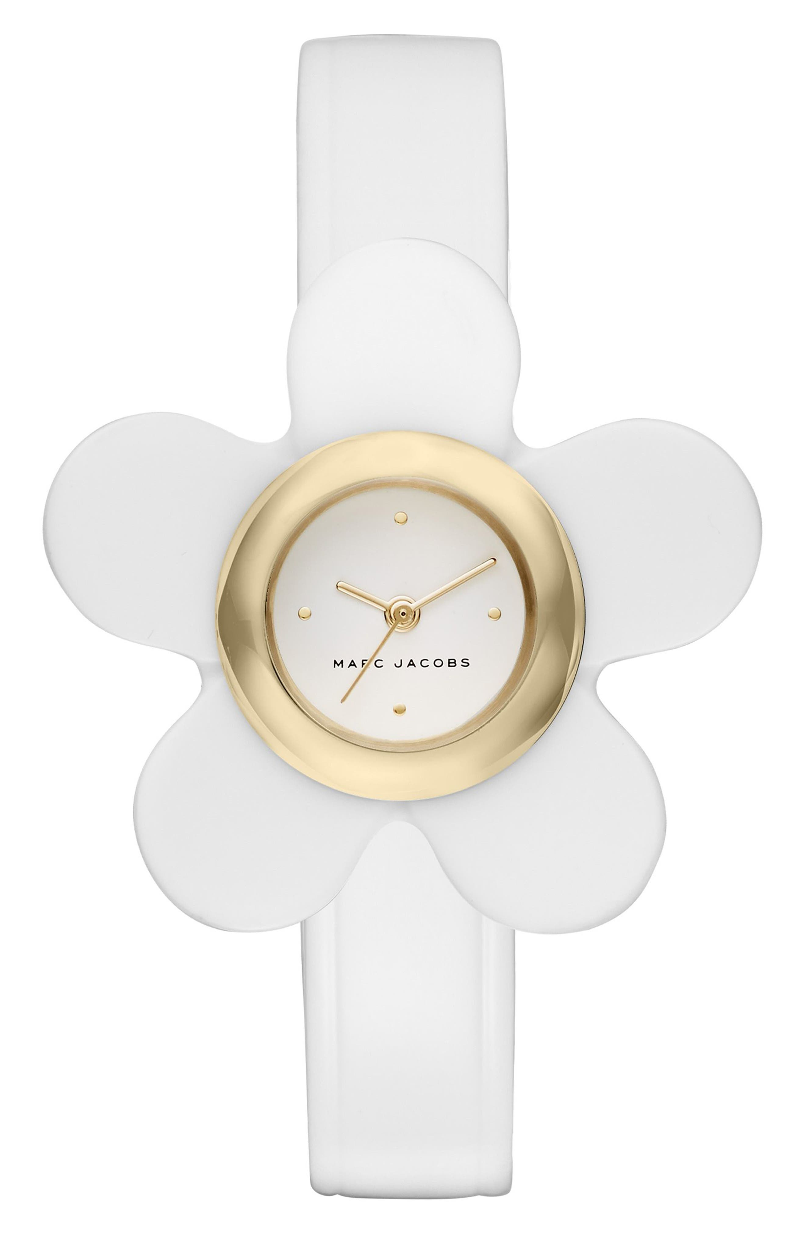 MARC JACOBS Daisy Leather Strap Watch, 20mm