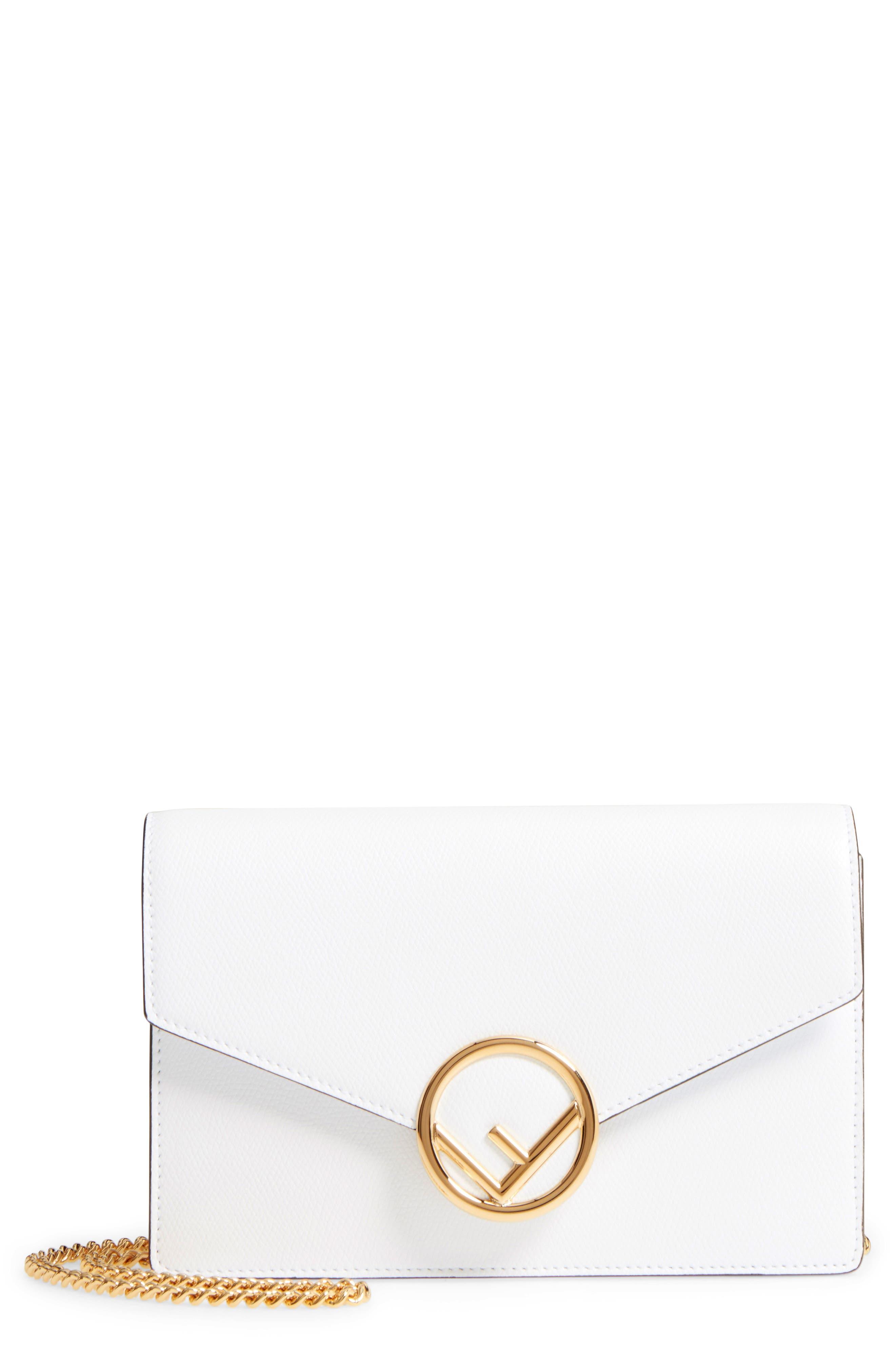 Main Image - Fendi Liberty Logo Leather Wallet on a Chain