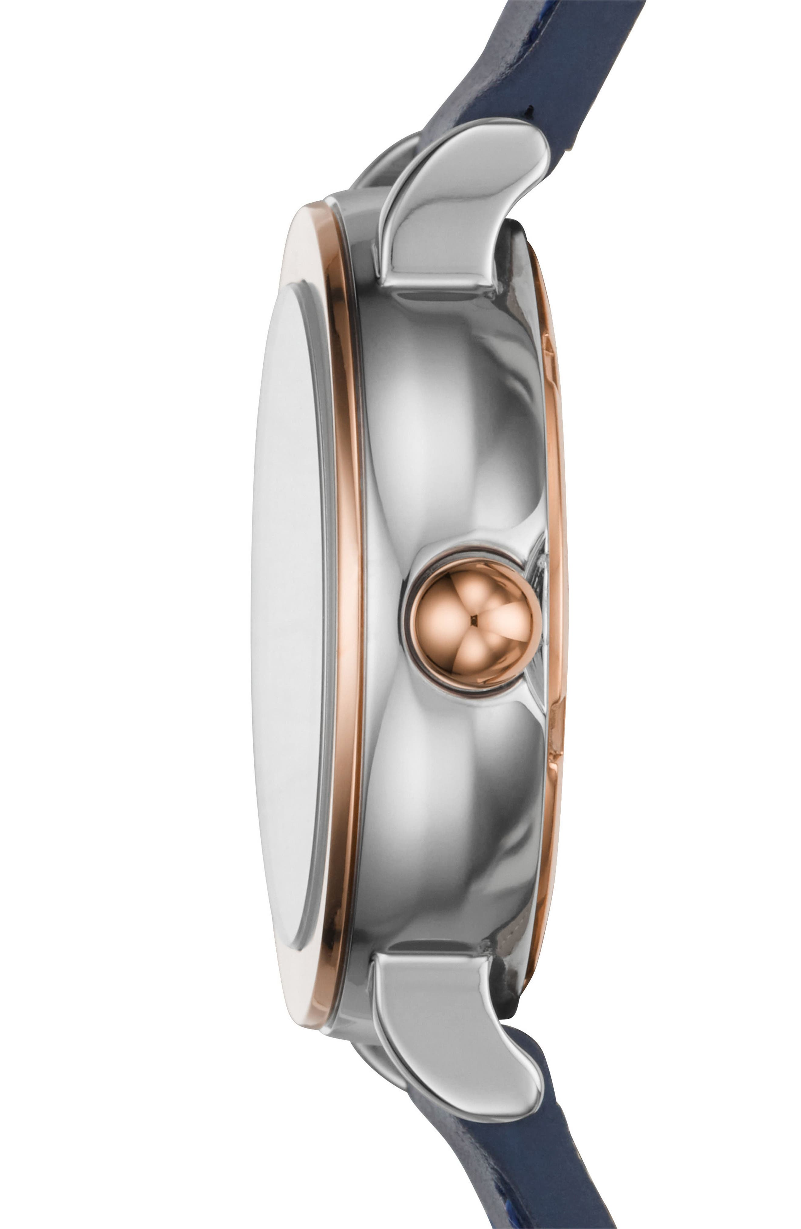 Alternate Image 2  - Marc Jacobs Riley Leather Strap Watch, 28mm