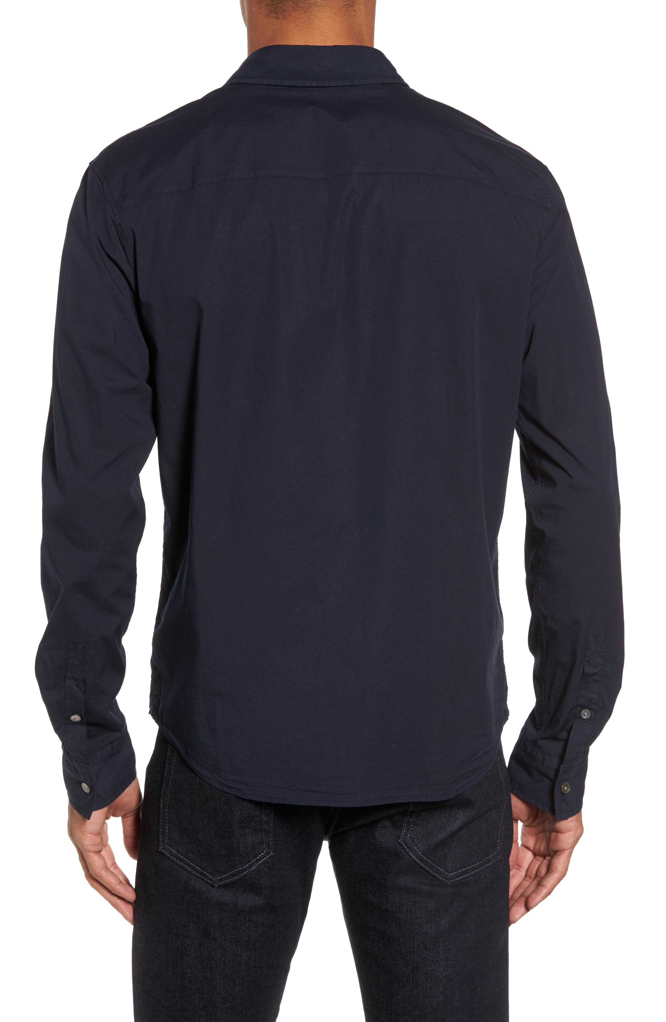 Relaxed Fit Sport Shirt,                             Alternate thumbnail 2, color,                             Blue Ink