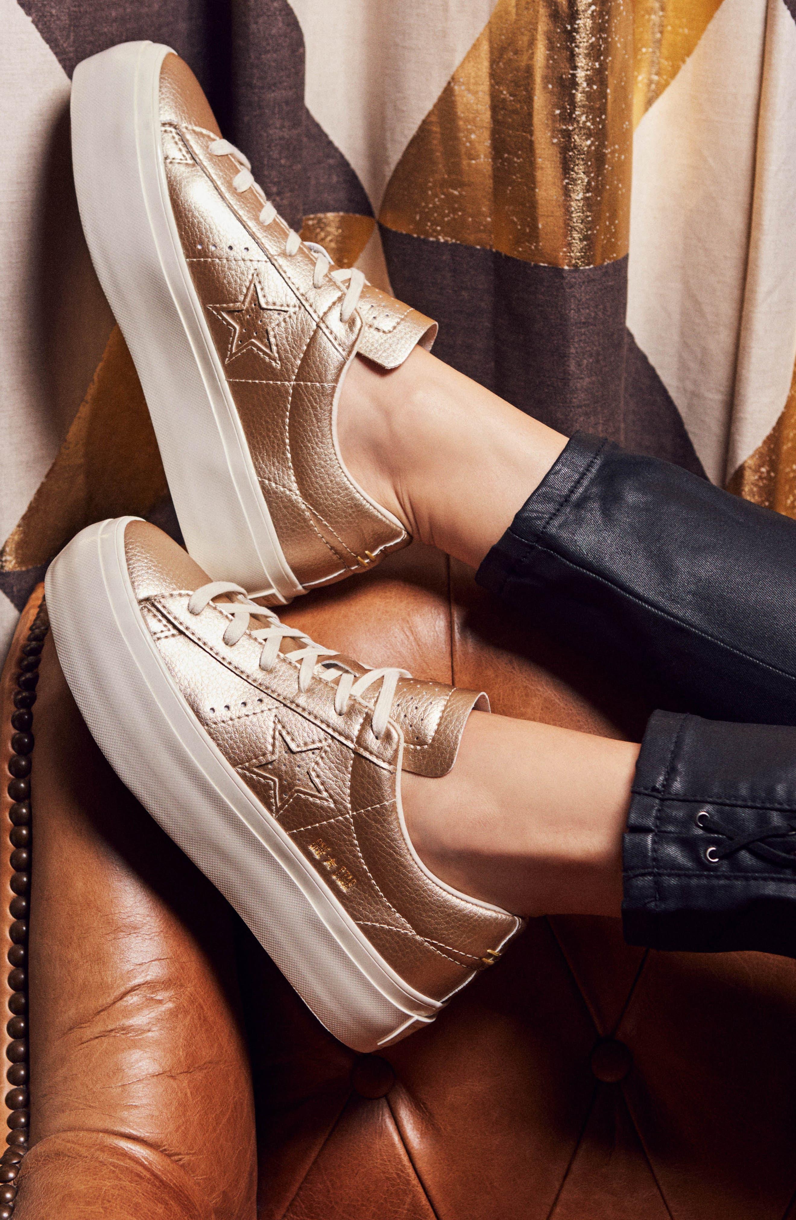 Alternate Image 8  - Converse Chuck Taylor® All Star® One Star Metallic Platform Sneaker (Women)