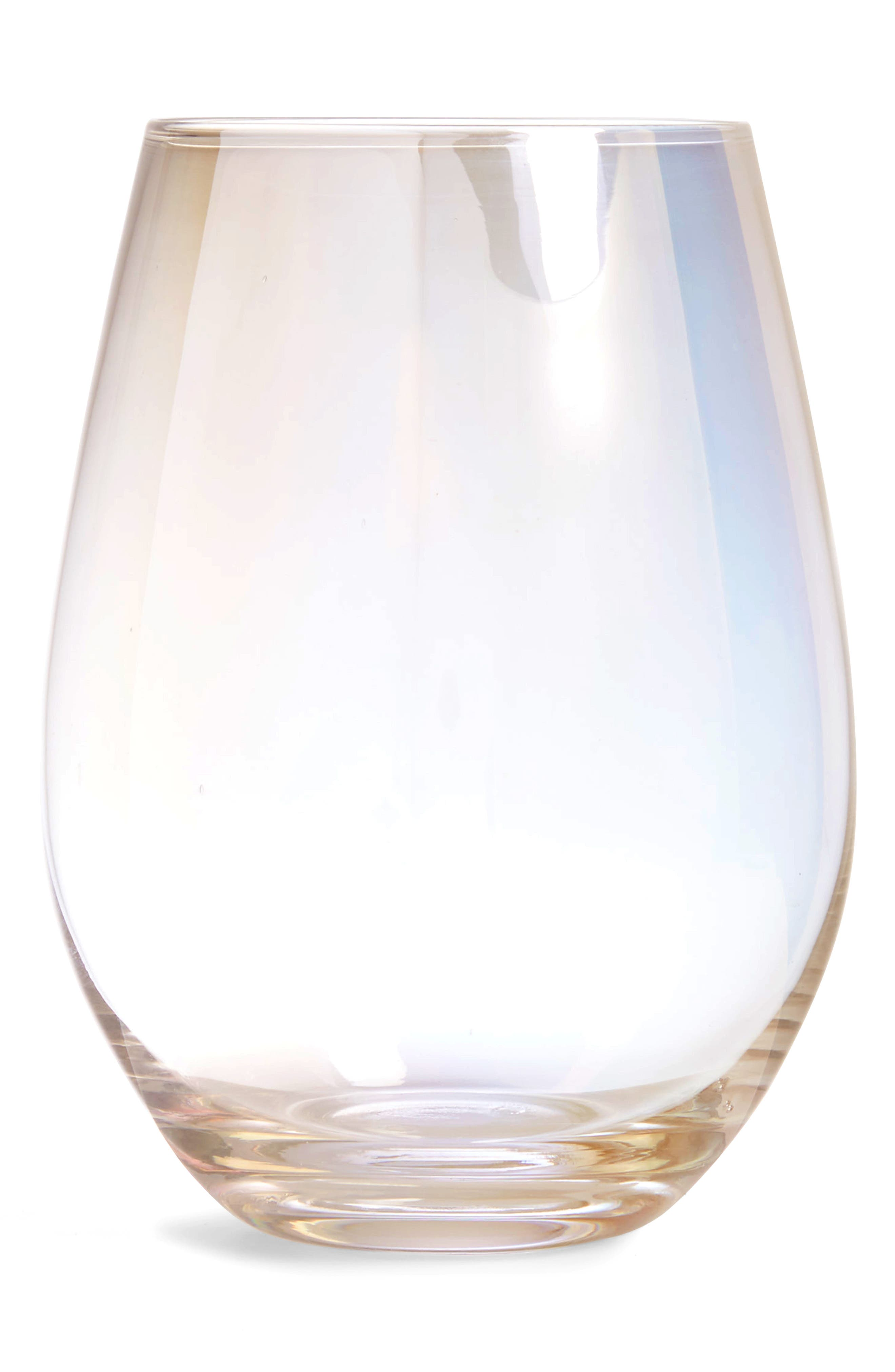 Luster Stemless Wine Glass,                             Main thumbnail 1, color,                             Pink