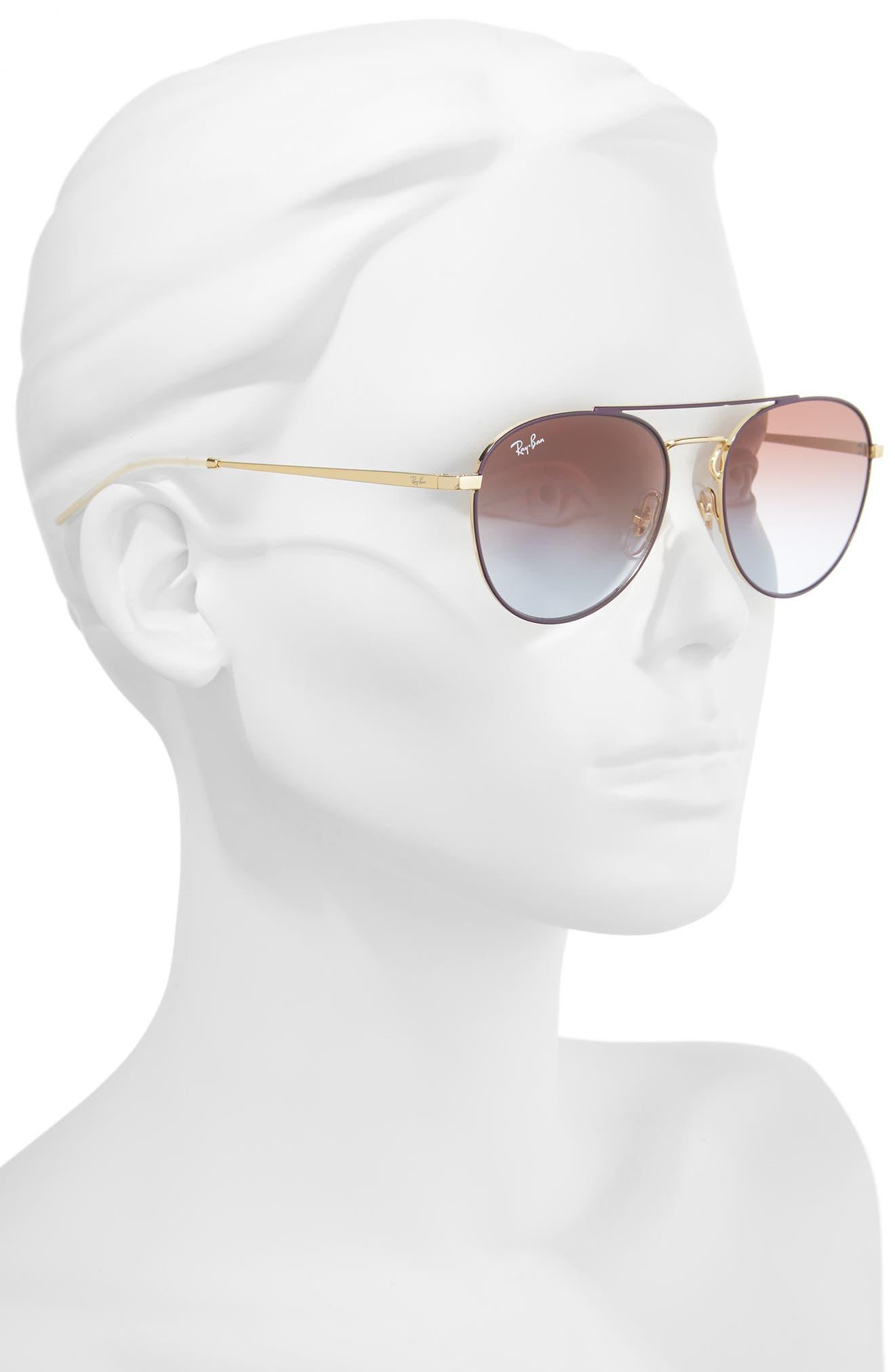 Alternate Image 2  - Ray-Ban 55mm Gradient Lens Round Aviator Sunglasses