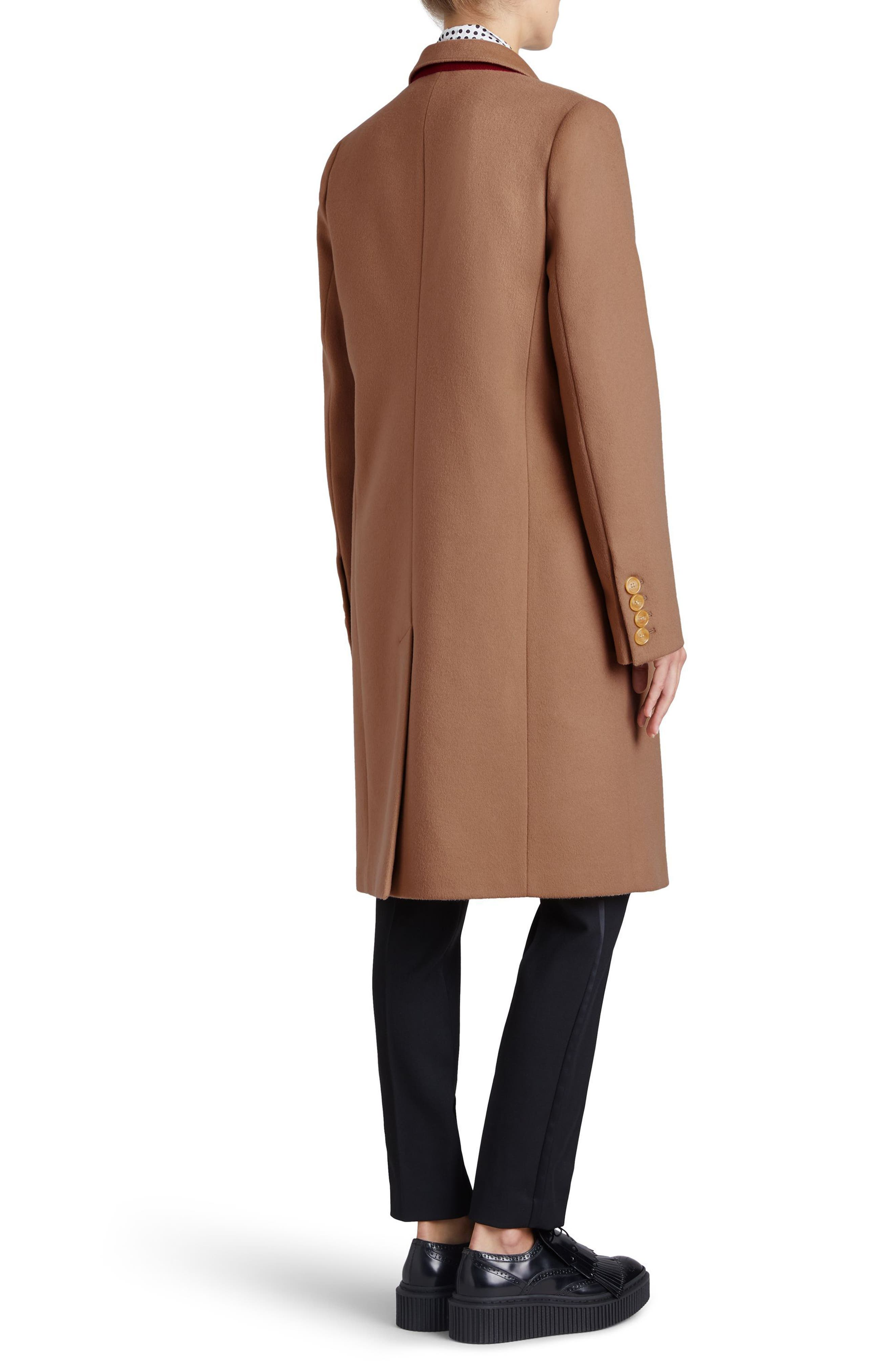 Fellhurst Wool & Cashmere Coat,                             Alternate thumbnail 3, color,                             Camel