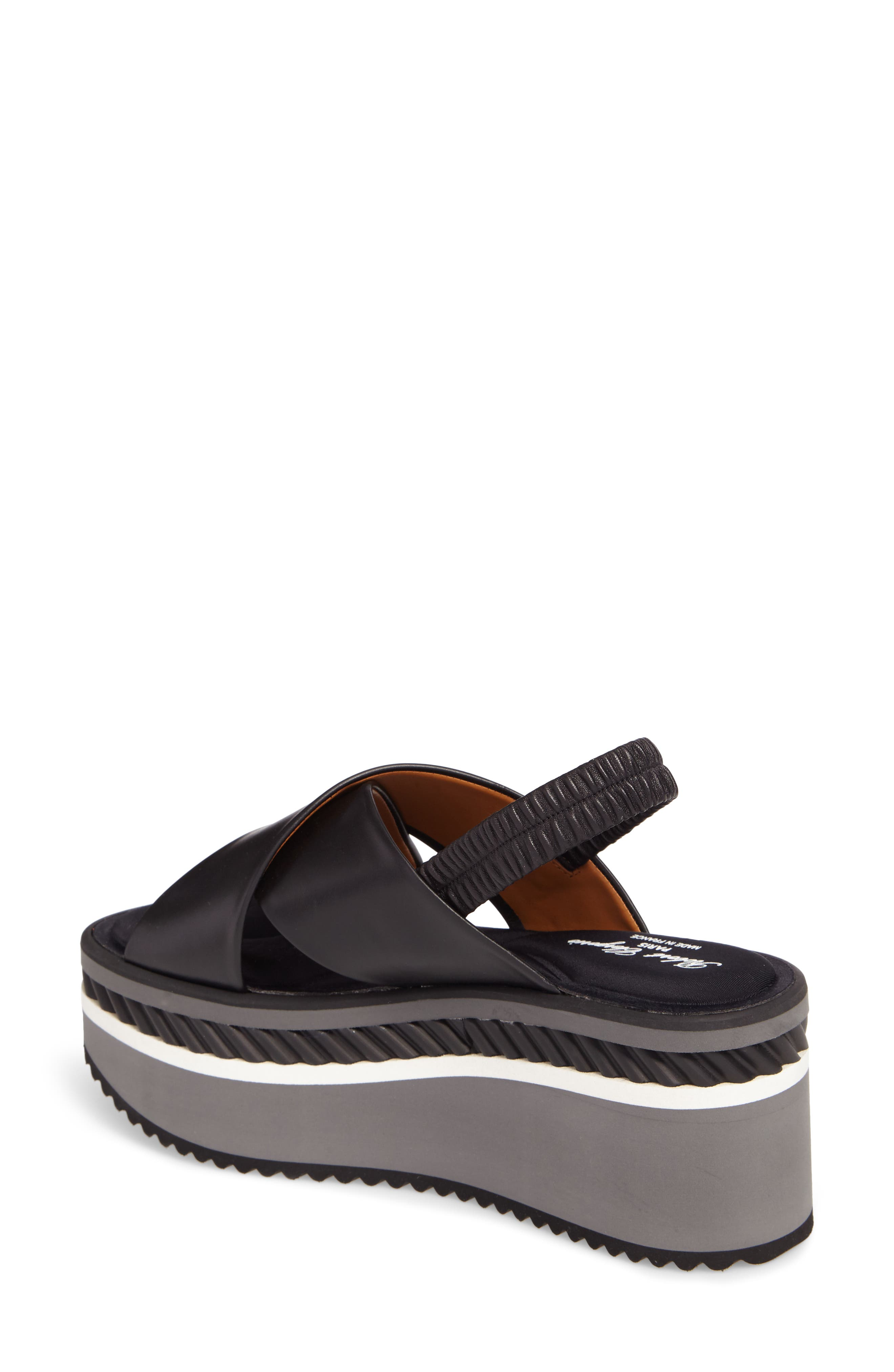 Omin Platform Slingback Sandal,                             Alternate thumbnail 2, color,                             Black