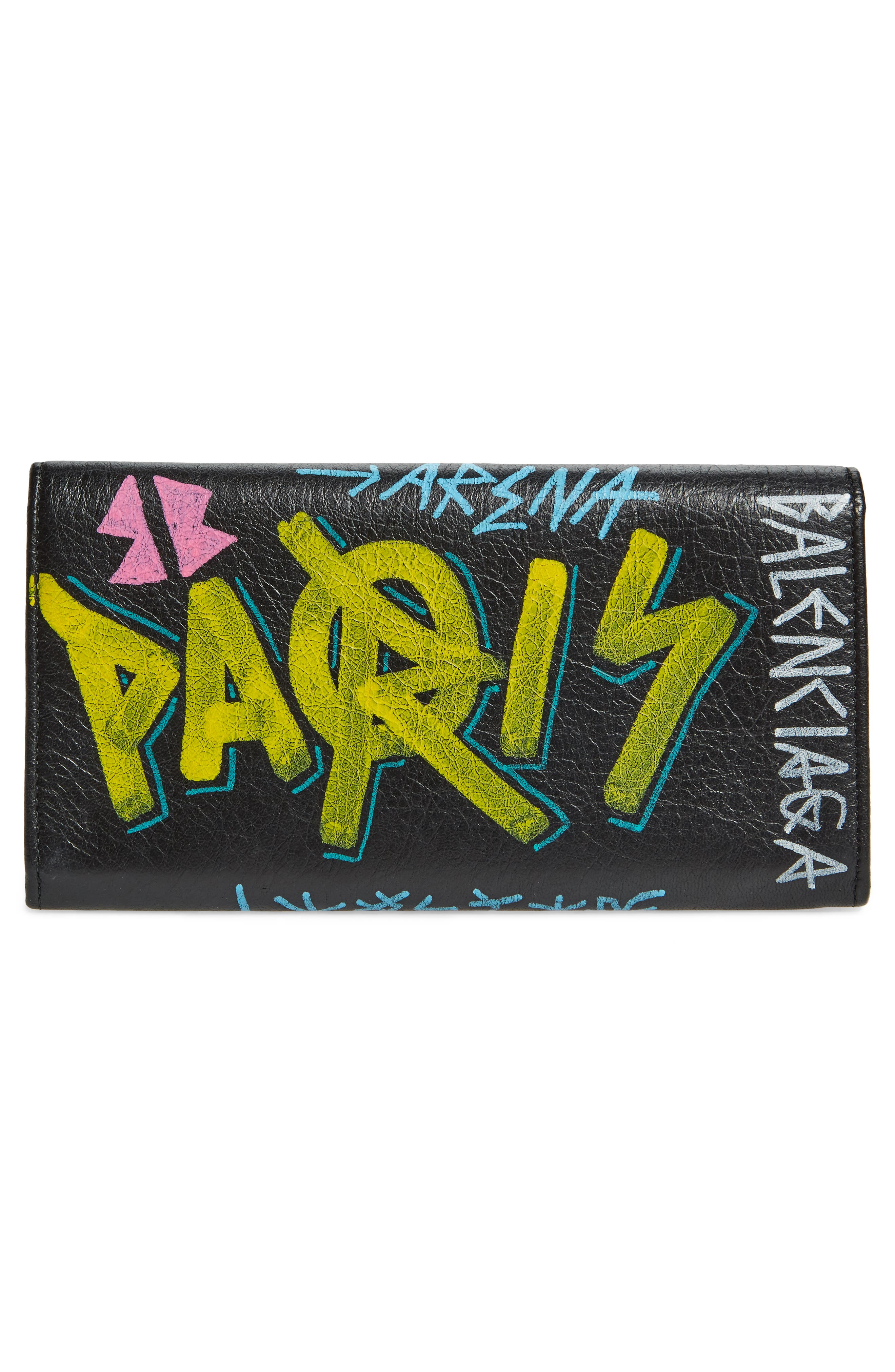 Alternate Image 4  - Balenciaga Classic Graffiti Leather Wallet