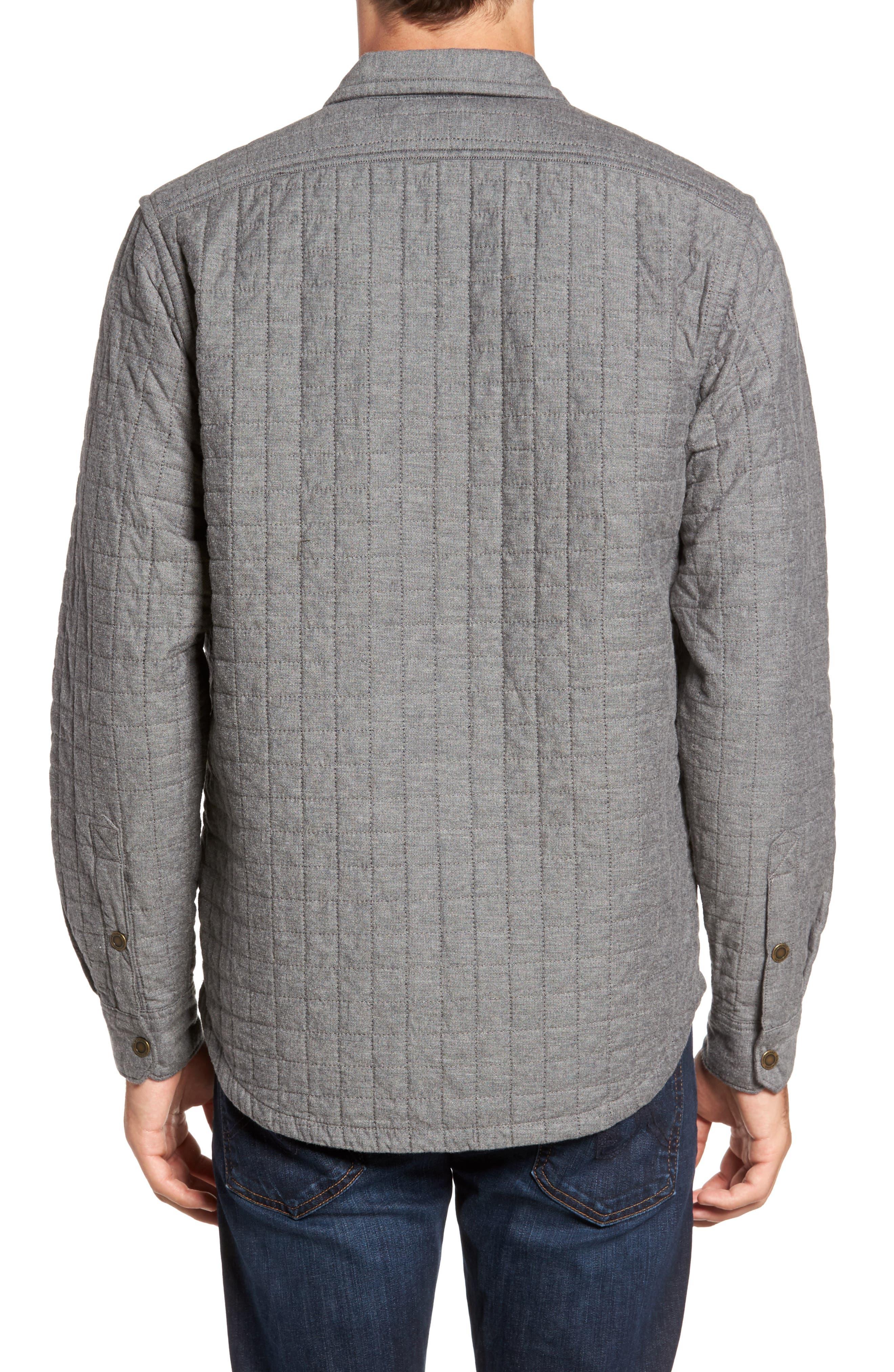Gunstock River Lightweight Quilted Shirt Jacket,                             Alternate thumbnail 2, color,                             Grey